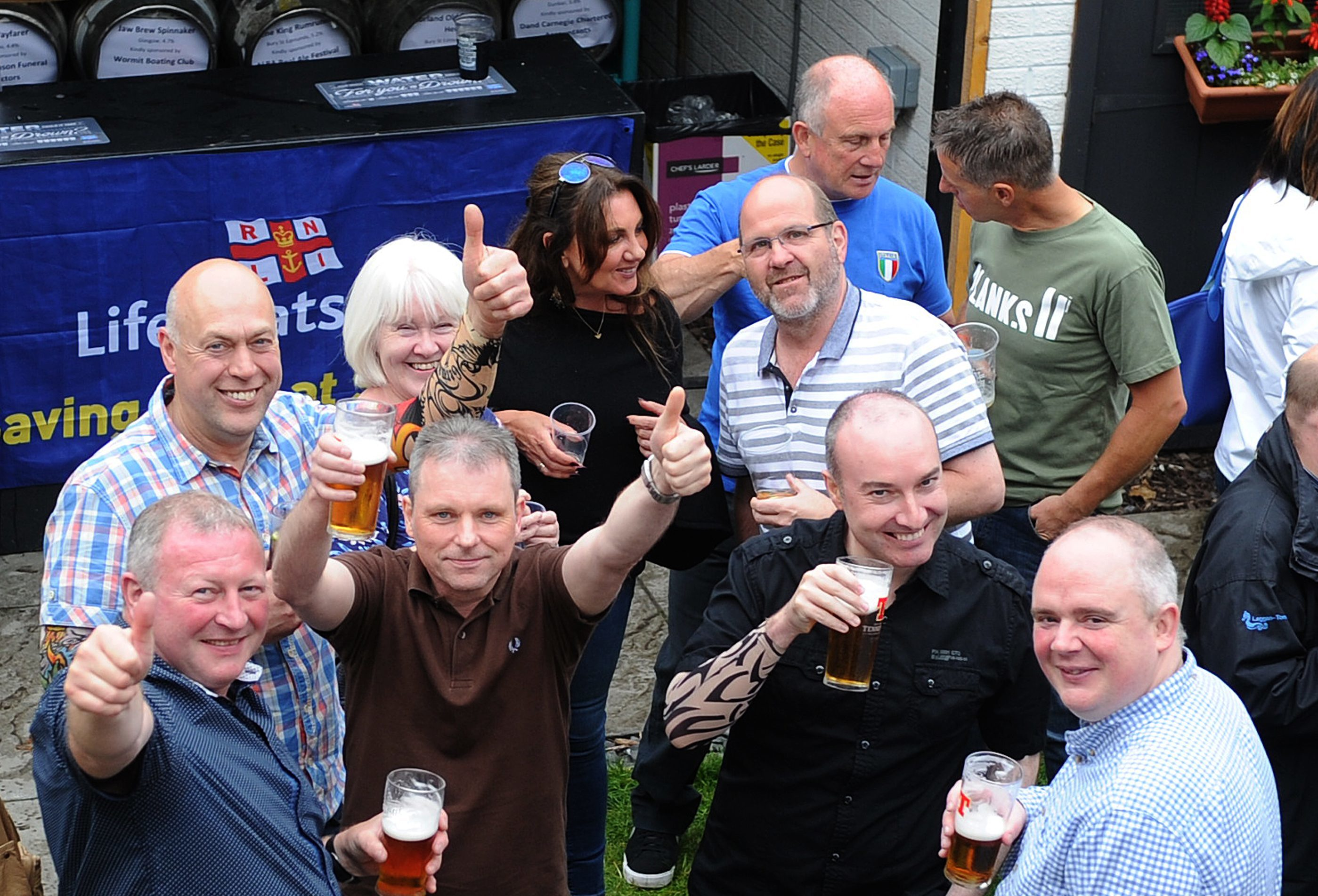The annual Ron Bonar Beer Festival in the beer garden of the Fishermen's Tavern