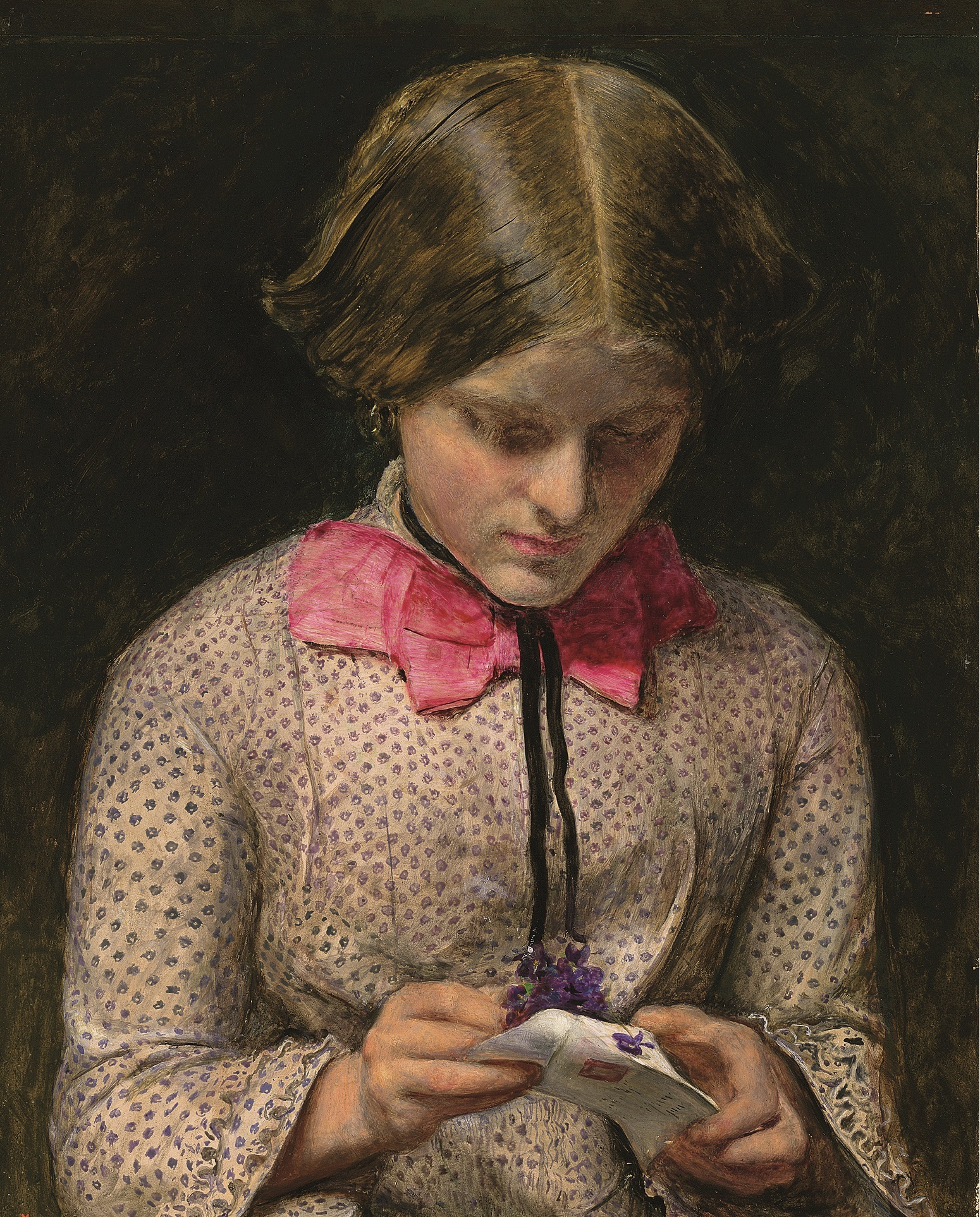 Picture by Sir John Everett Millais  entitled The Violet's Message.