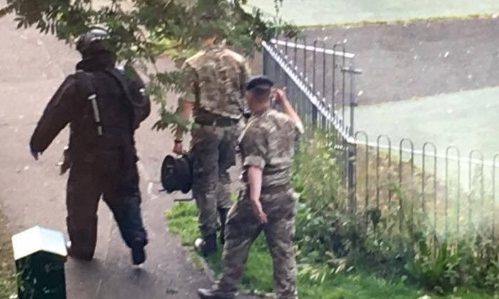 Social media images of troops in Nidrie.