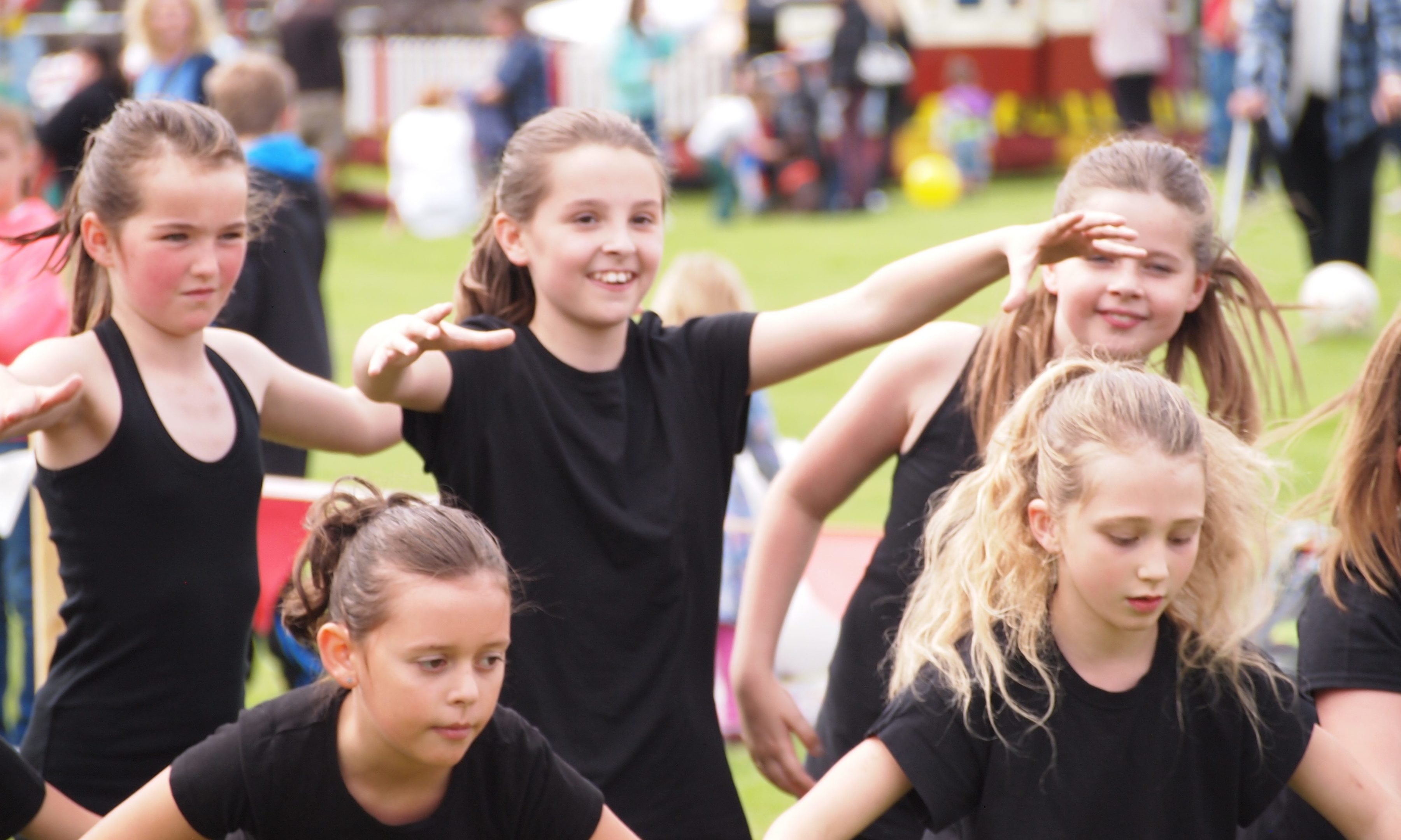Dancers from Let's Dance in Blairgowrie at Coupar Angus gala.