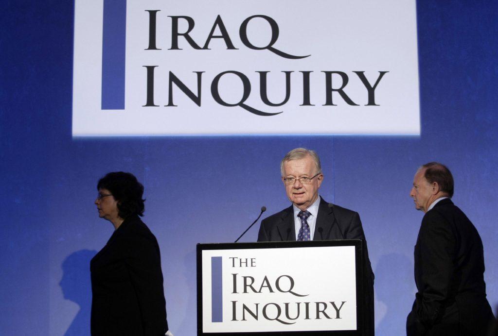 Sir John Chilcot presented the Iraq Inquiry report.