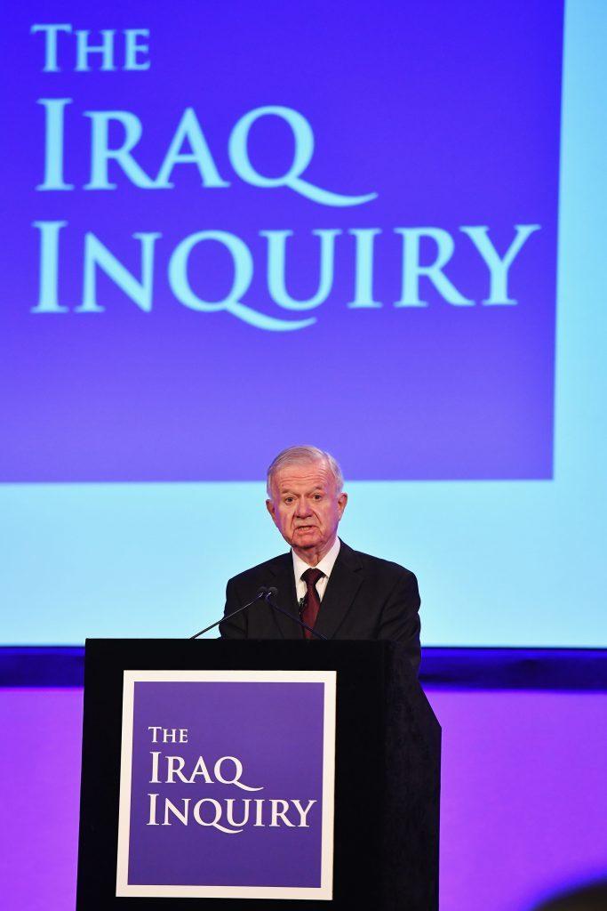 Sir John Chilcot presents The Iraq Inquiry Report.
