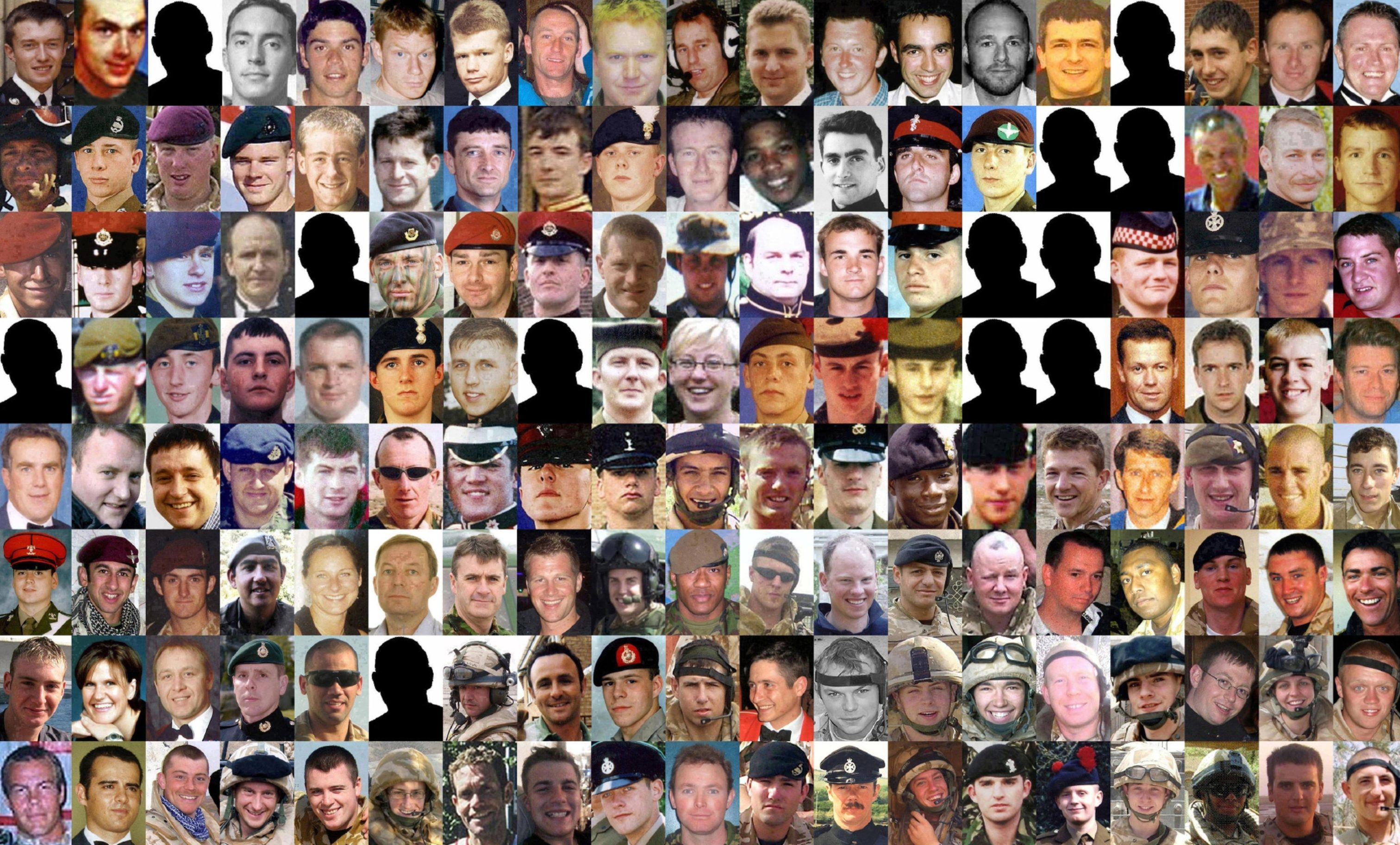 Some of the 179 troops who died during the conflict in Iraq.