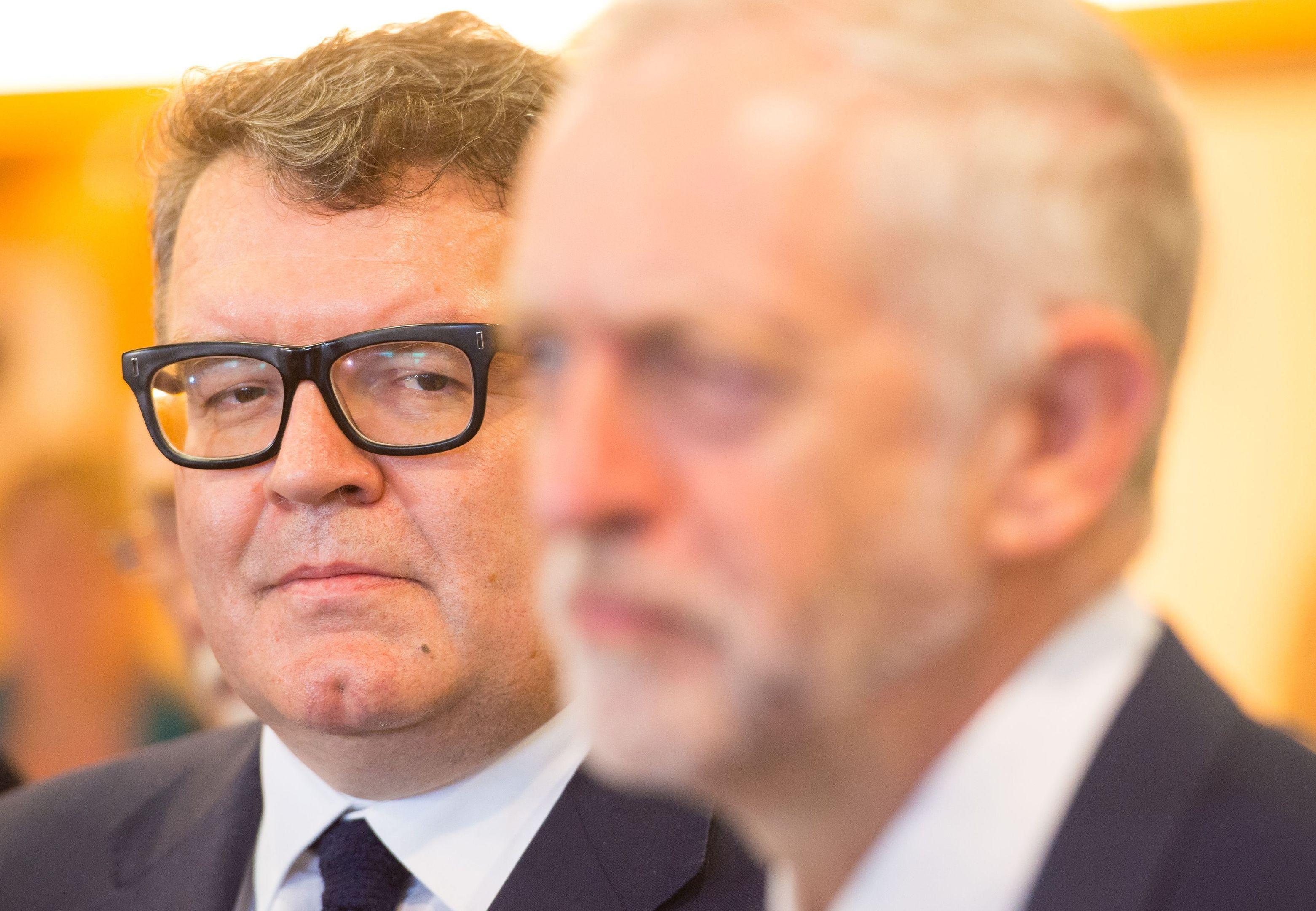 Labour deputy leader Tom Watson and leader Jeremy Corbyn.
