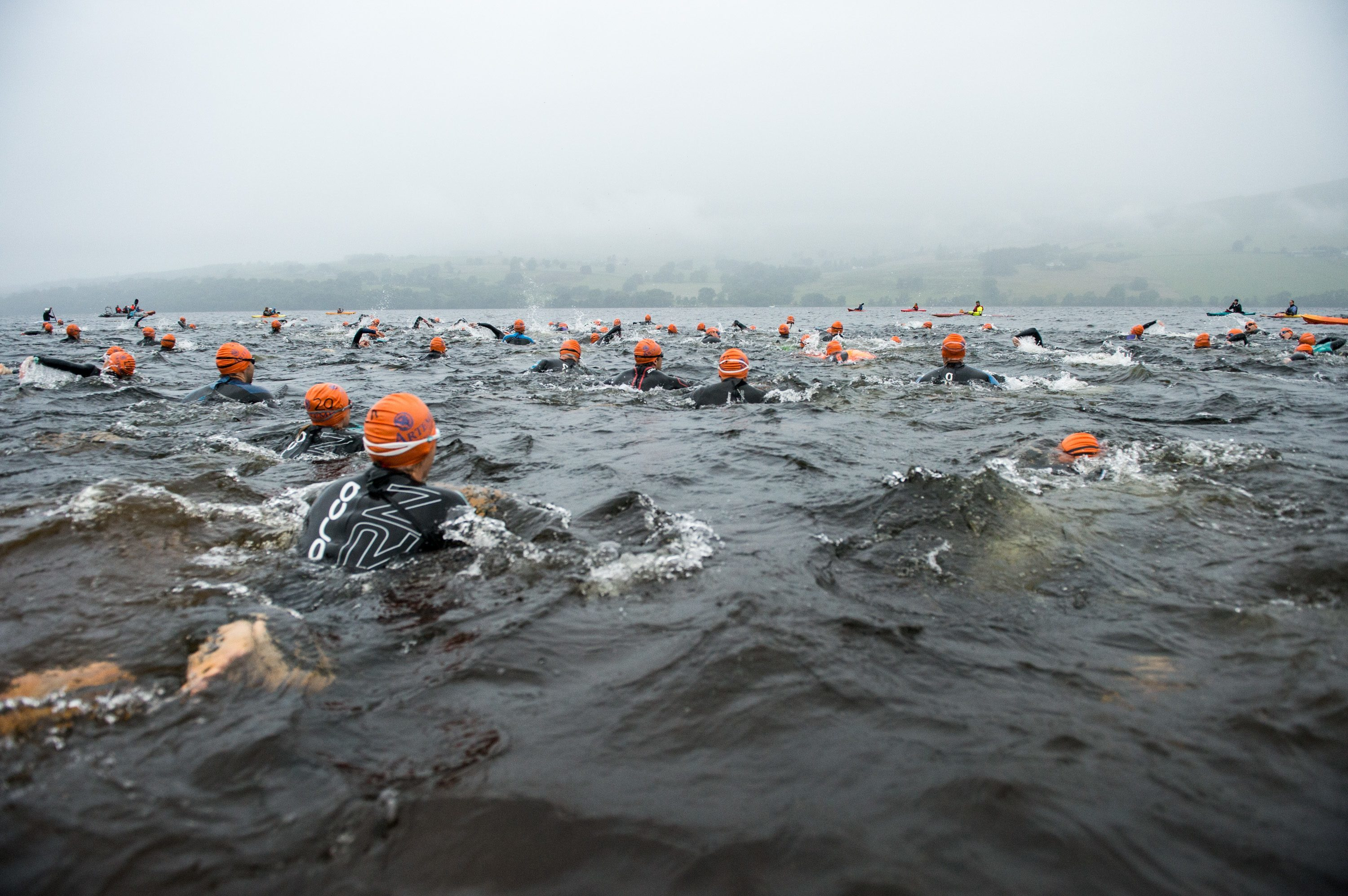 Competitors faced challenging conditions on the course.