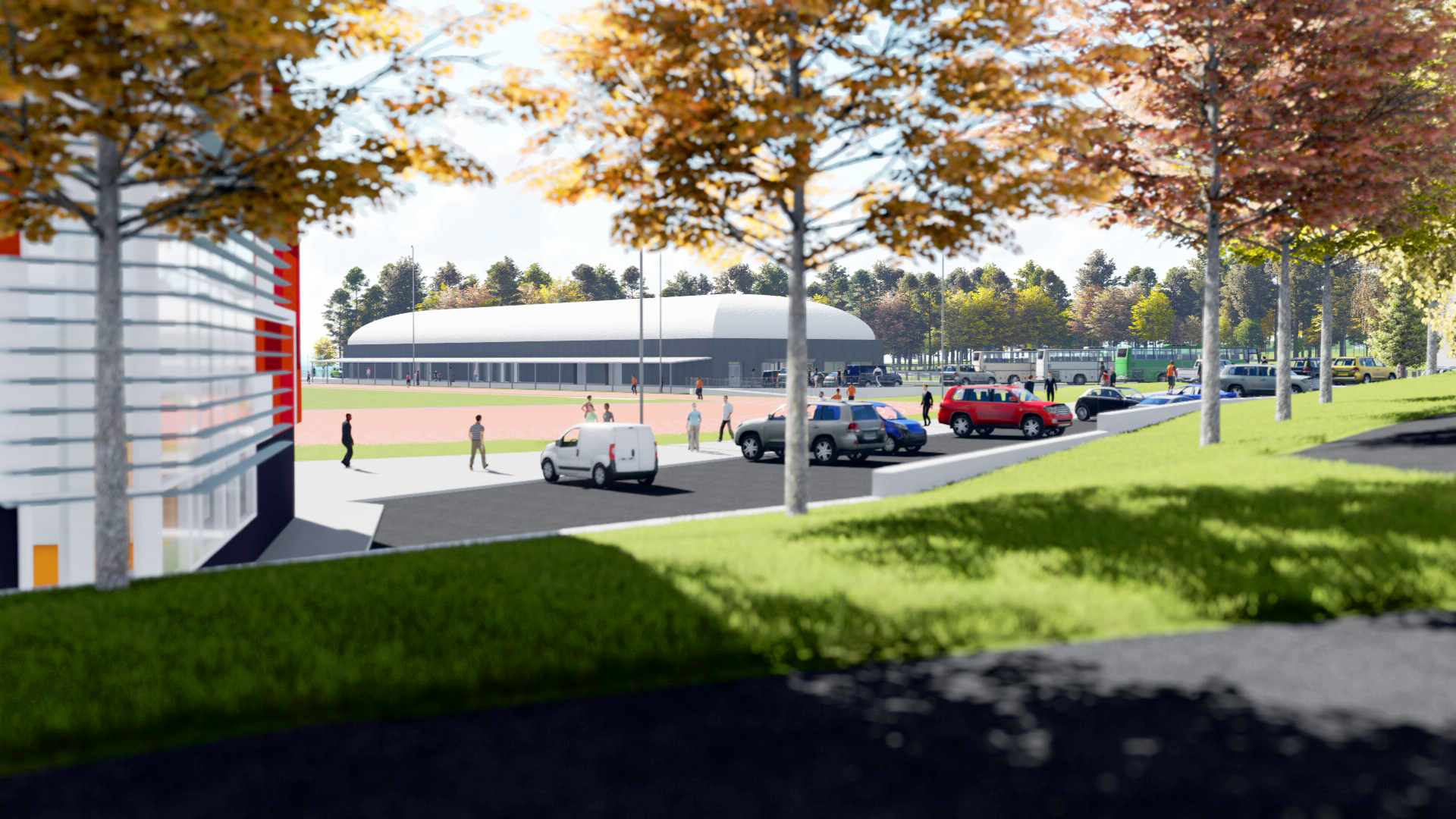 An impression of the proposed facilities.