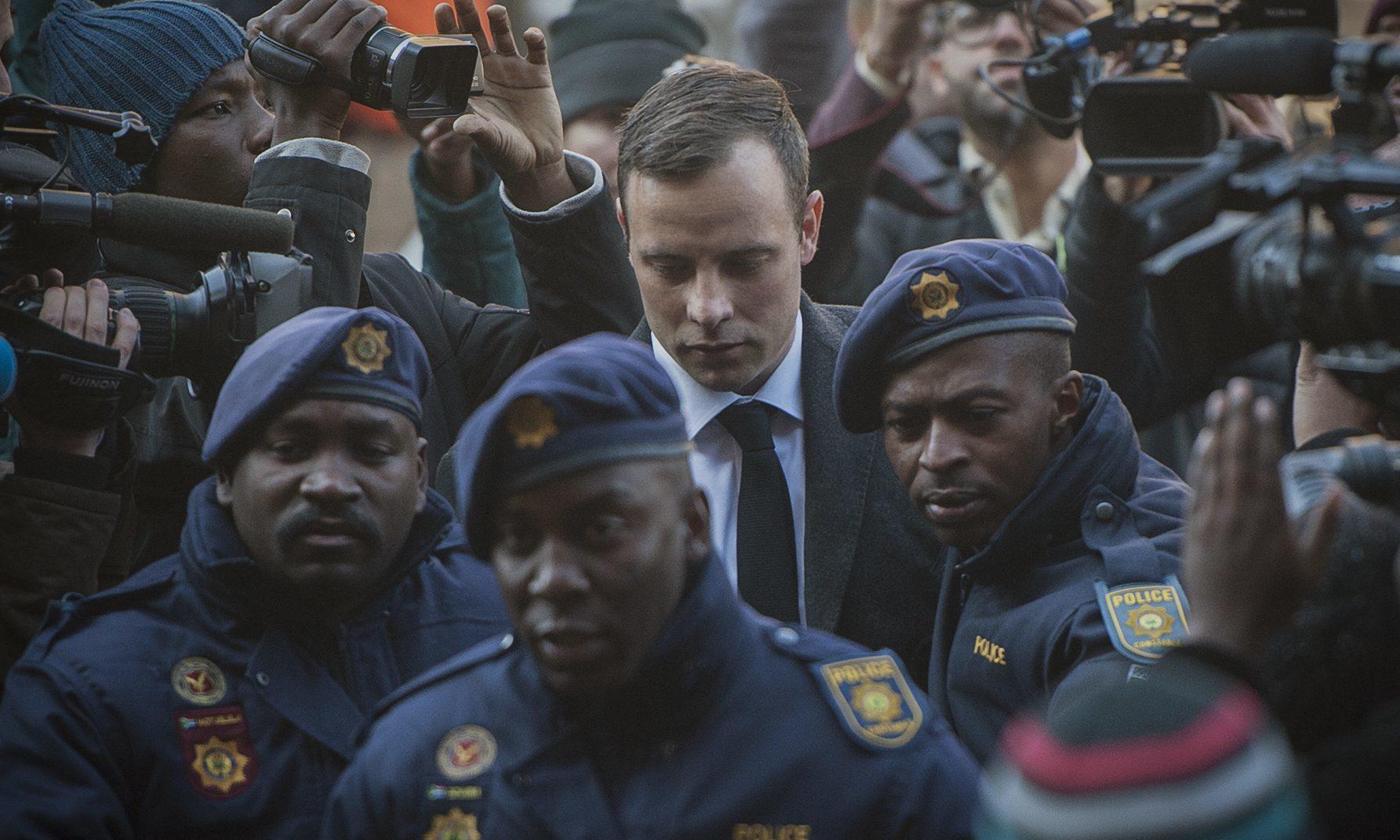 Oscar Pistorius arrives at the High Court in Pretoria.