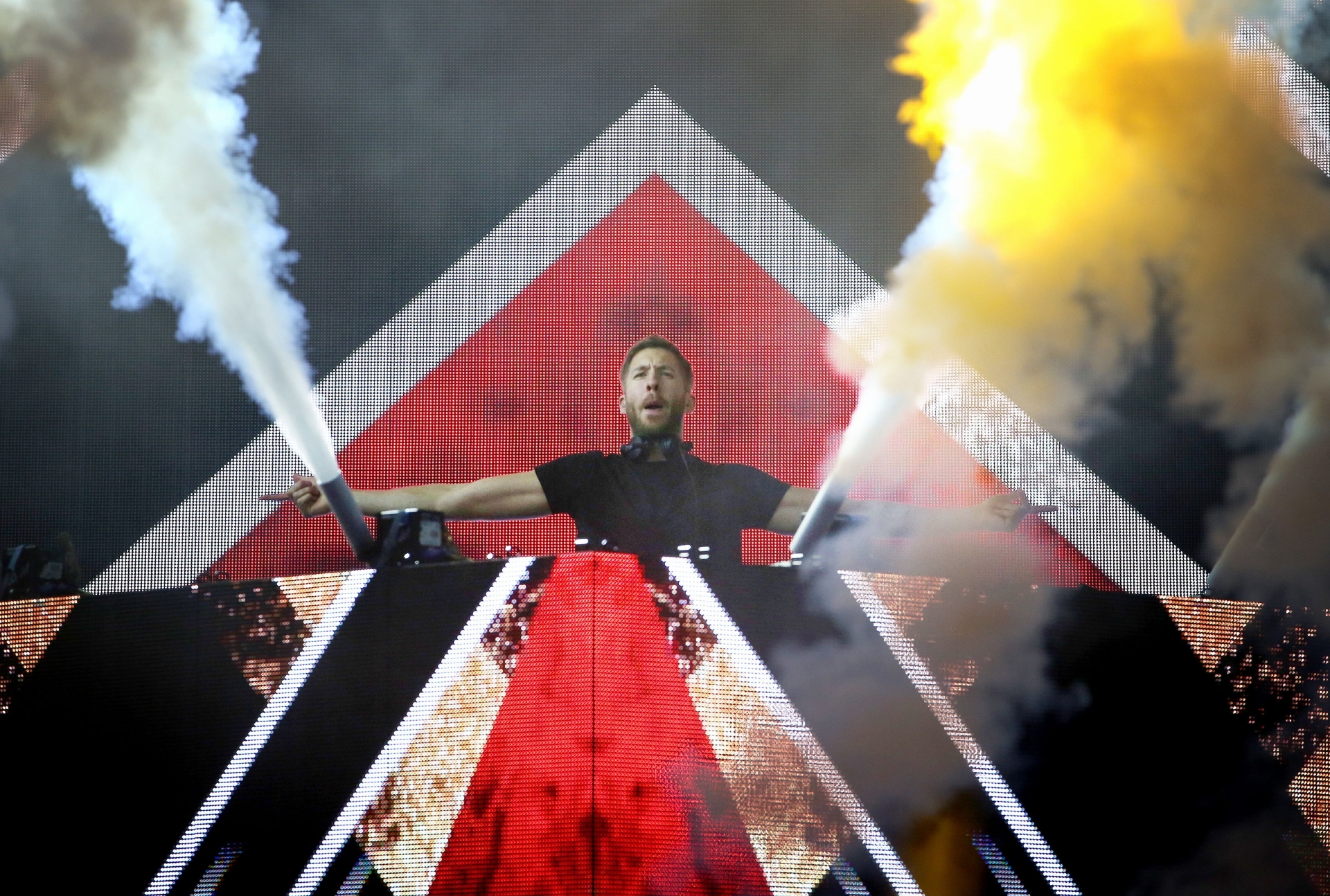 Calvin Harris performing at T in the Park earlier this year
