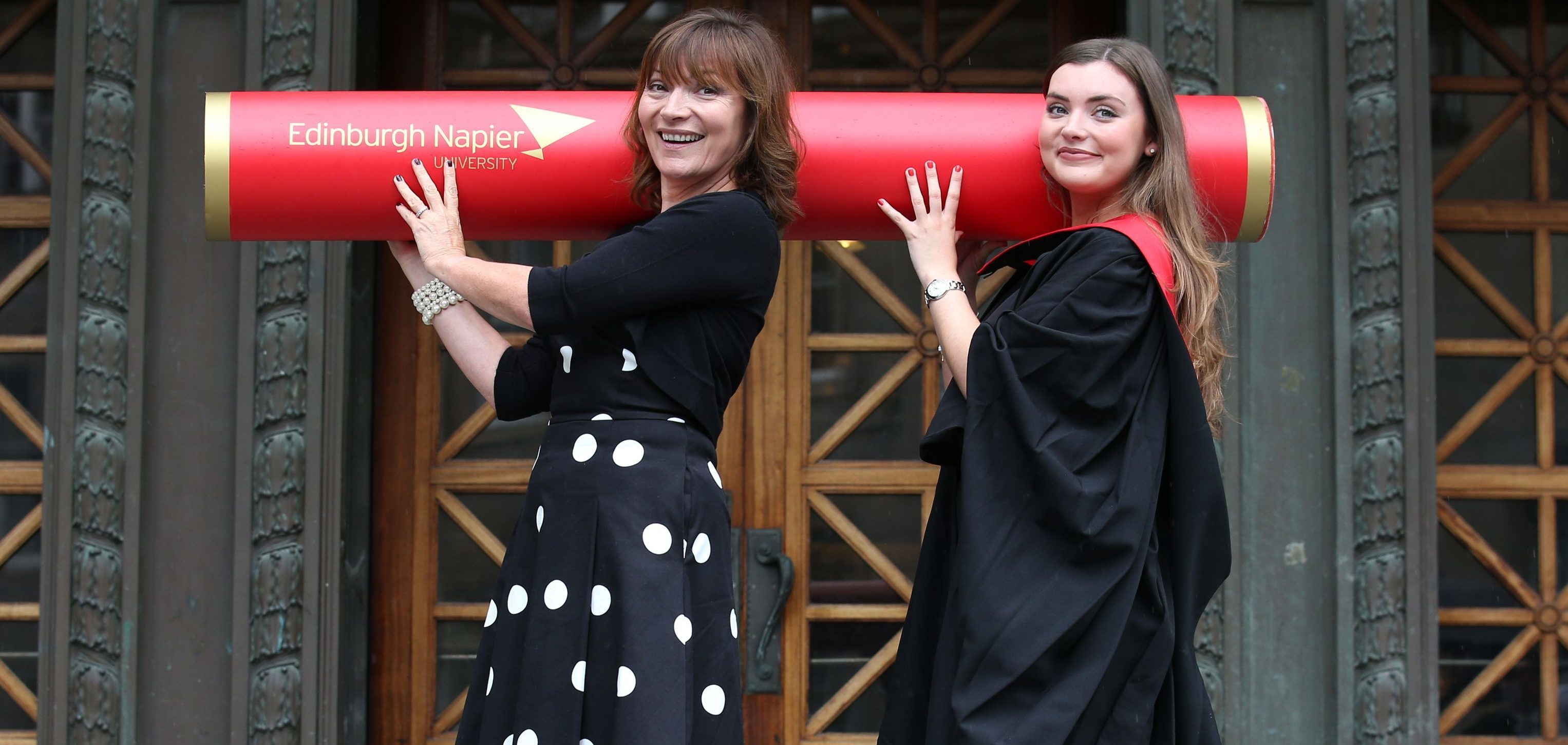 TV presenter Lorraine Kelly with her daughter Rosie Smith.