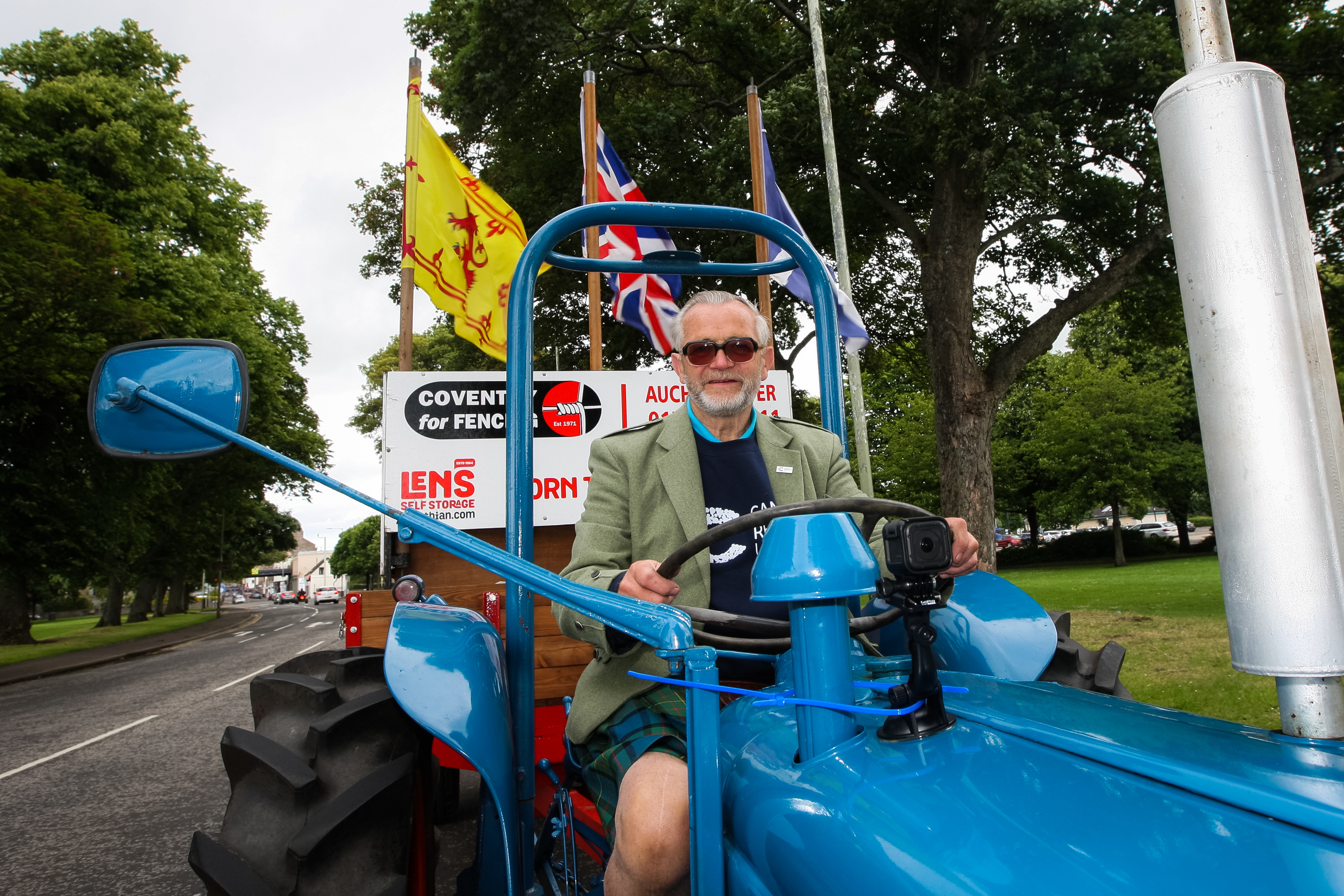 David has previously driven from John O' Groats to Land's End in the tractor.