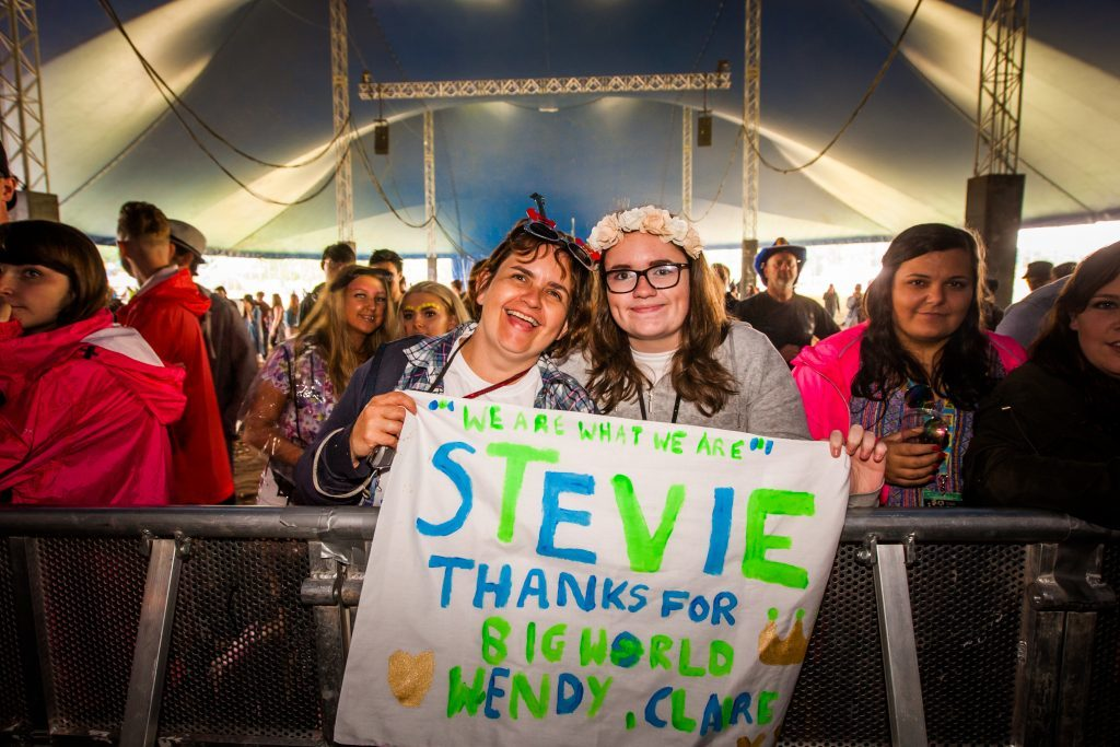 Courier News - Perth - Jamie Buchan Story. Pictures from Saturday's T in the Park event. Picture shows fans in the crowd during performance by Stevie McCrorie at King Tut's Wah Wah Tent. T in the Park site, Strathallan Estate, Auchterarder. Saturday 9th July 2016.