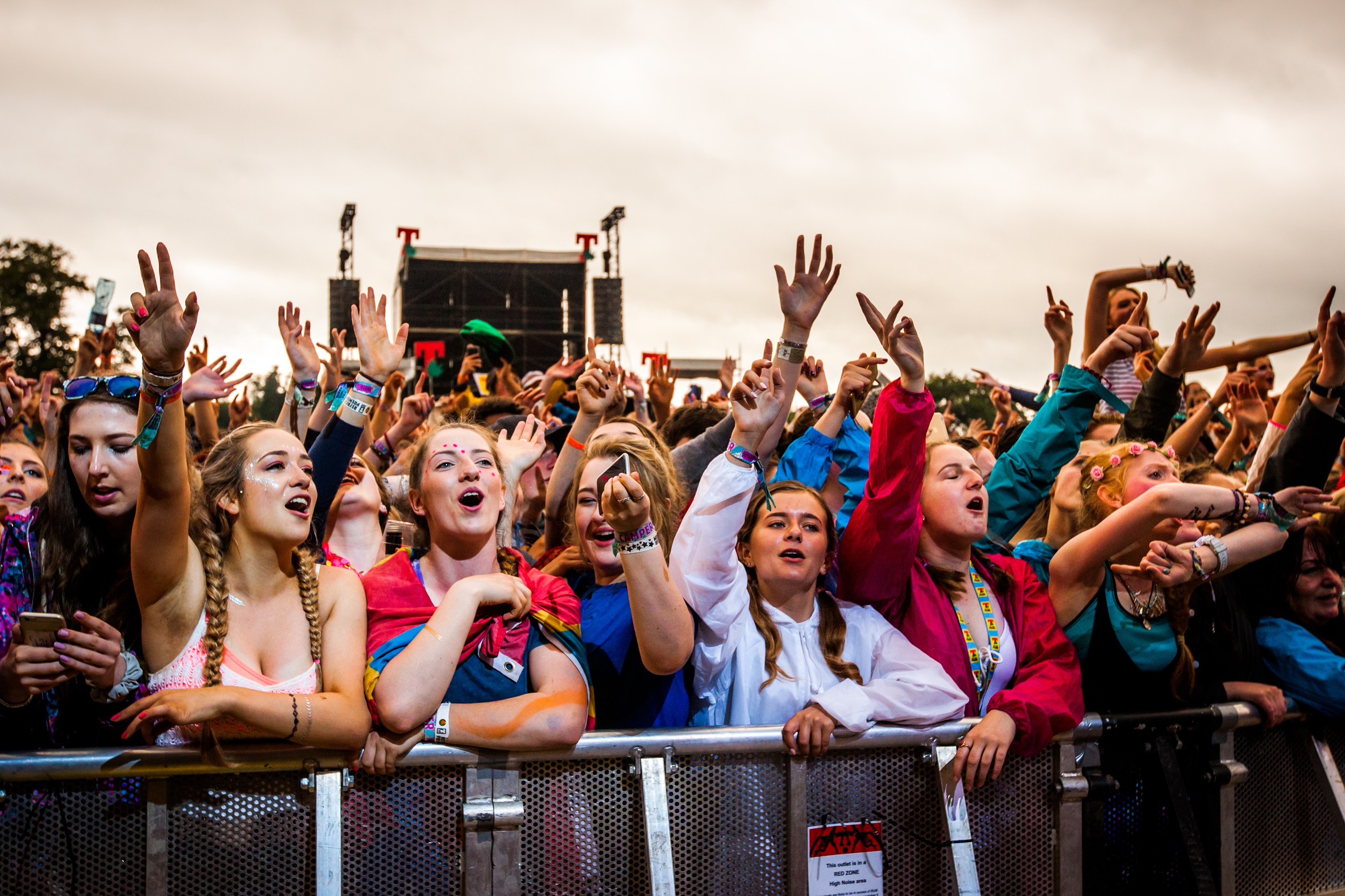 Crowds at T in the Park.