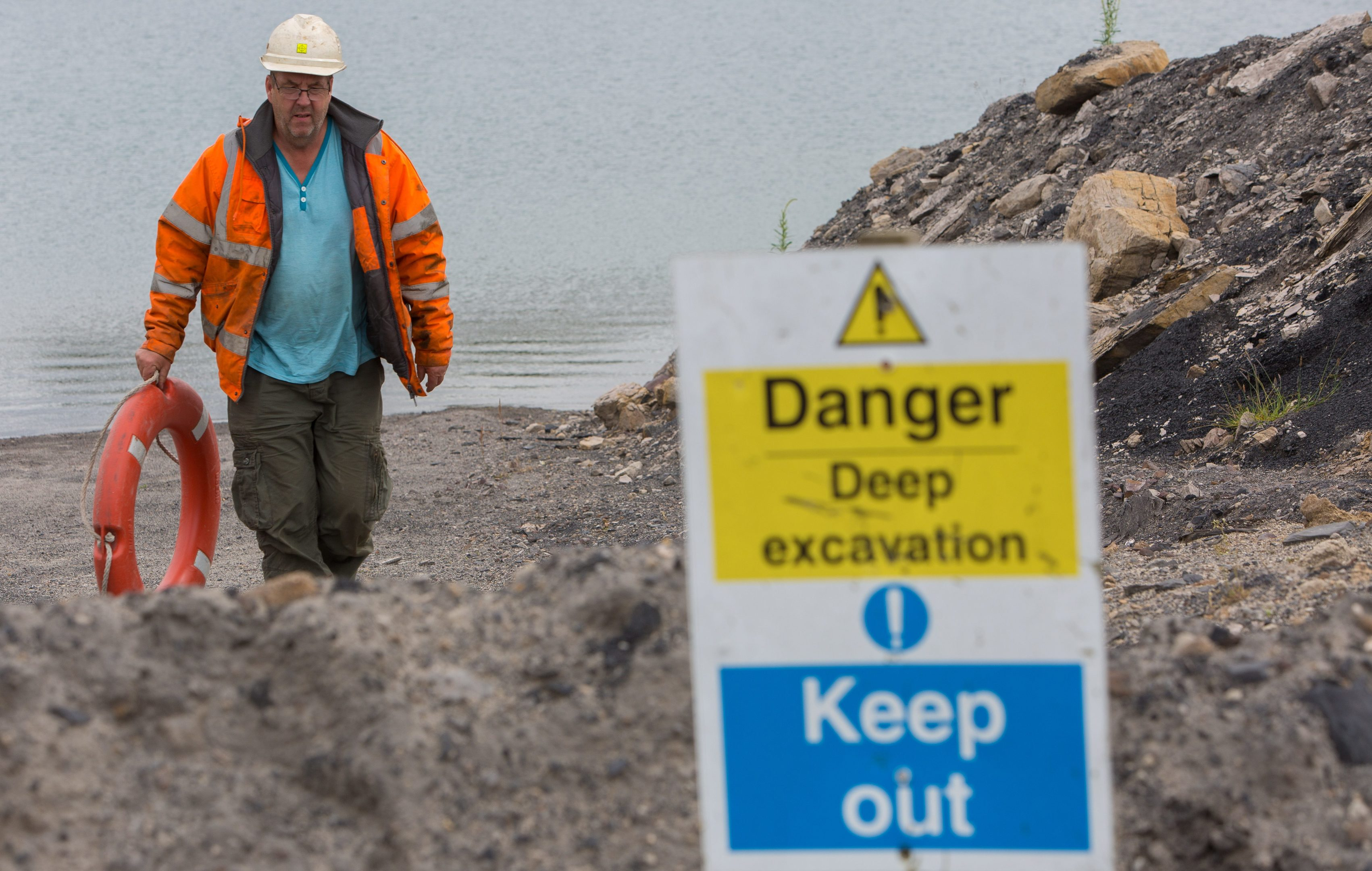 Site Supervisor Brian Thomson is responsible for maintaining the disused open cast site.