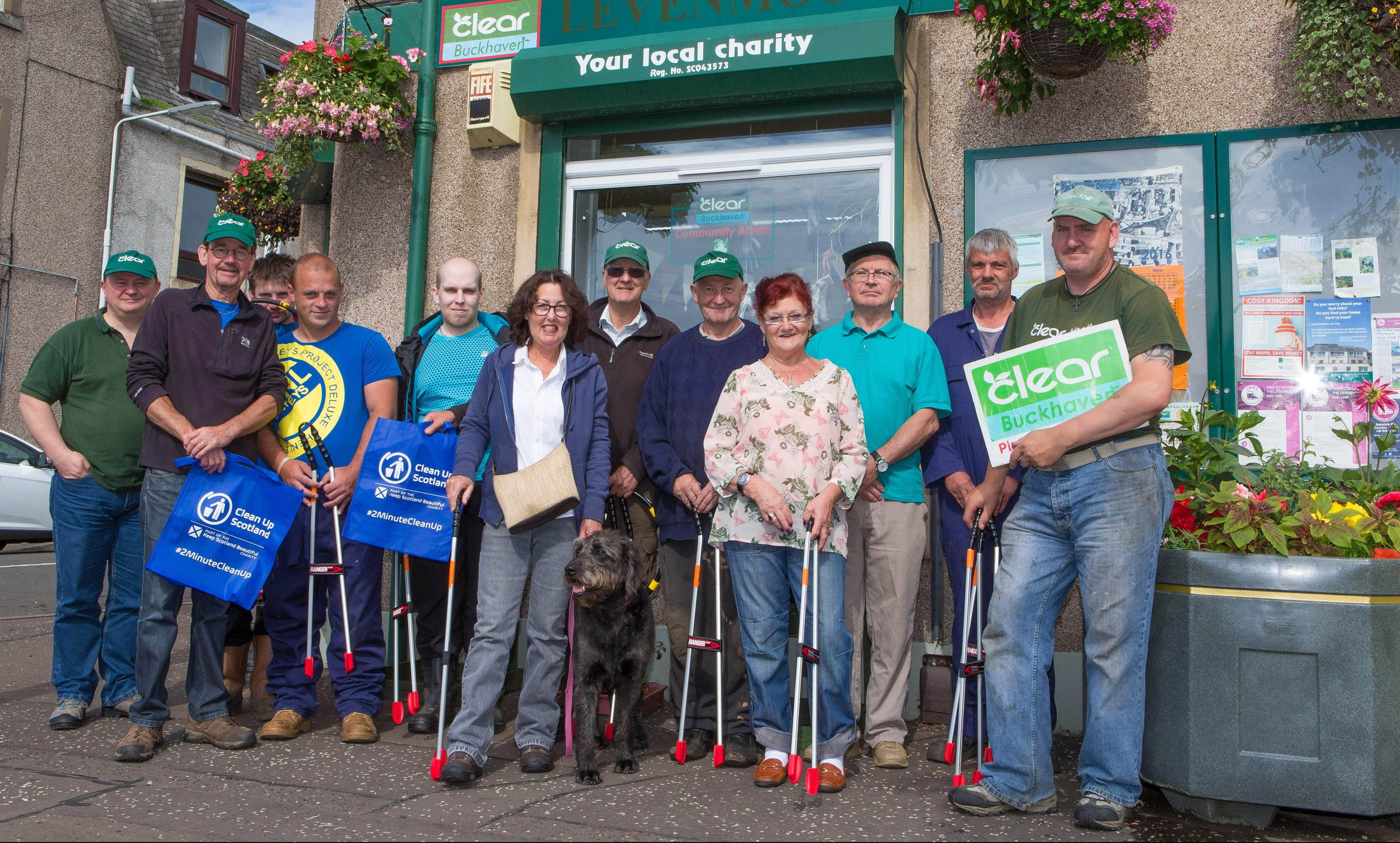 The CLEAR Buckhaven team outside the office in College Street.