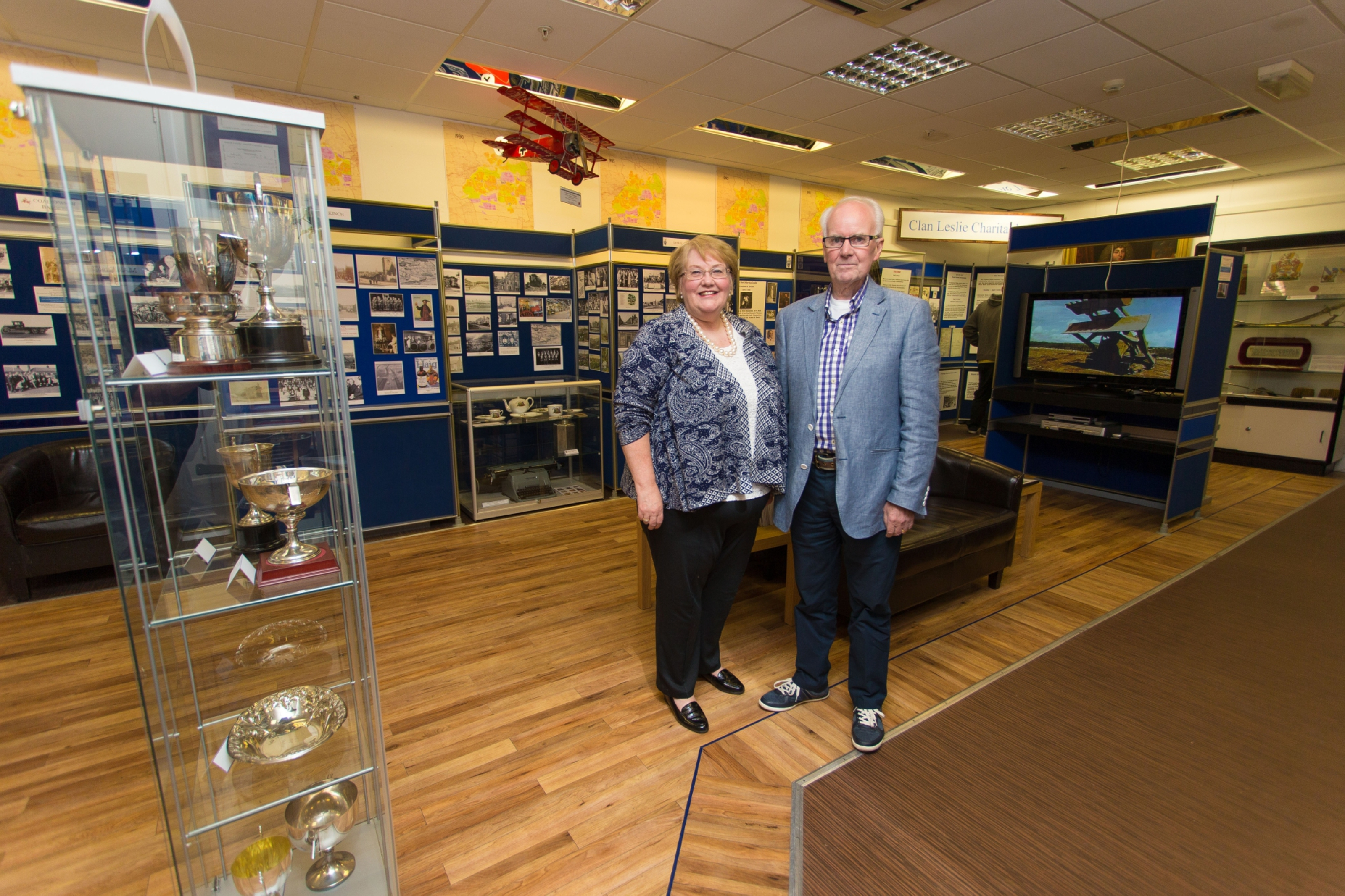 Founder Linda Ballingall and trustee David Brown at the heritage centre which has closed after 10 years.