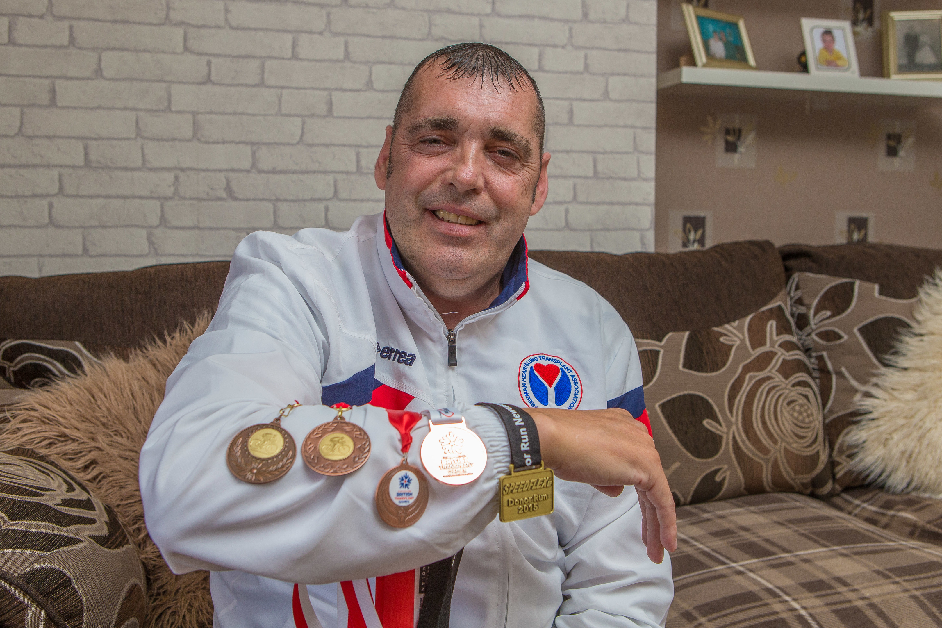 John Coyle has won medals for sporting achievements since his transplant.