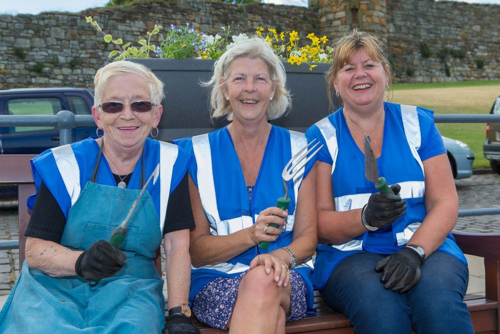 Pictured: Marysia Denyer, Christine Hulbert and Barbara Boyd from St Andrews in Bloom