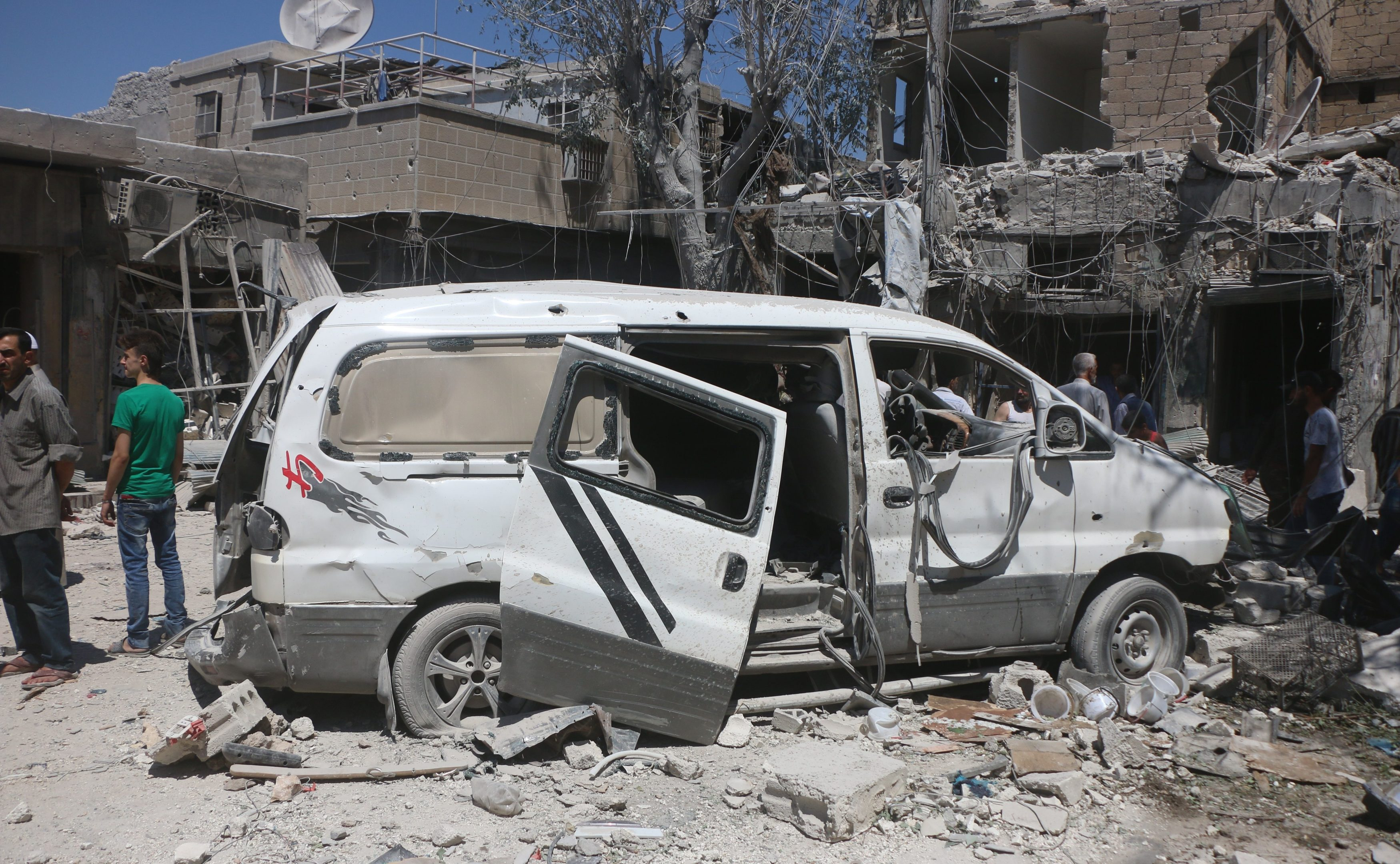 The families were forced to flee the civil war which has caused so much destruction in Syria.