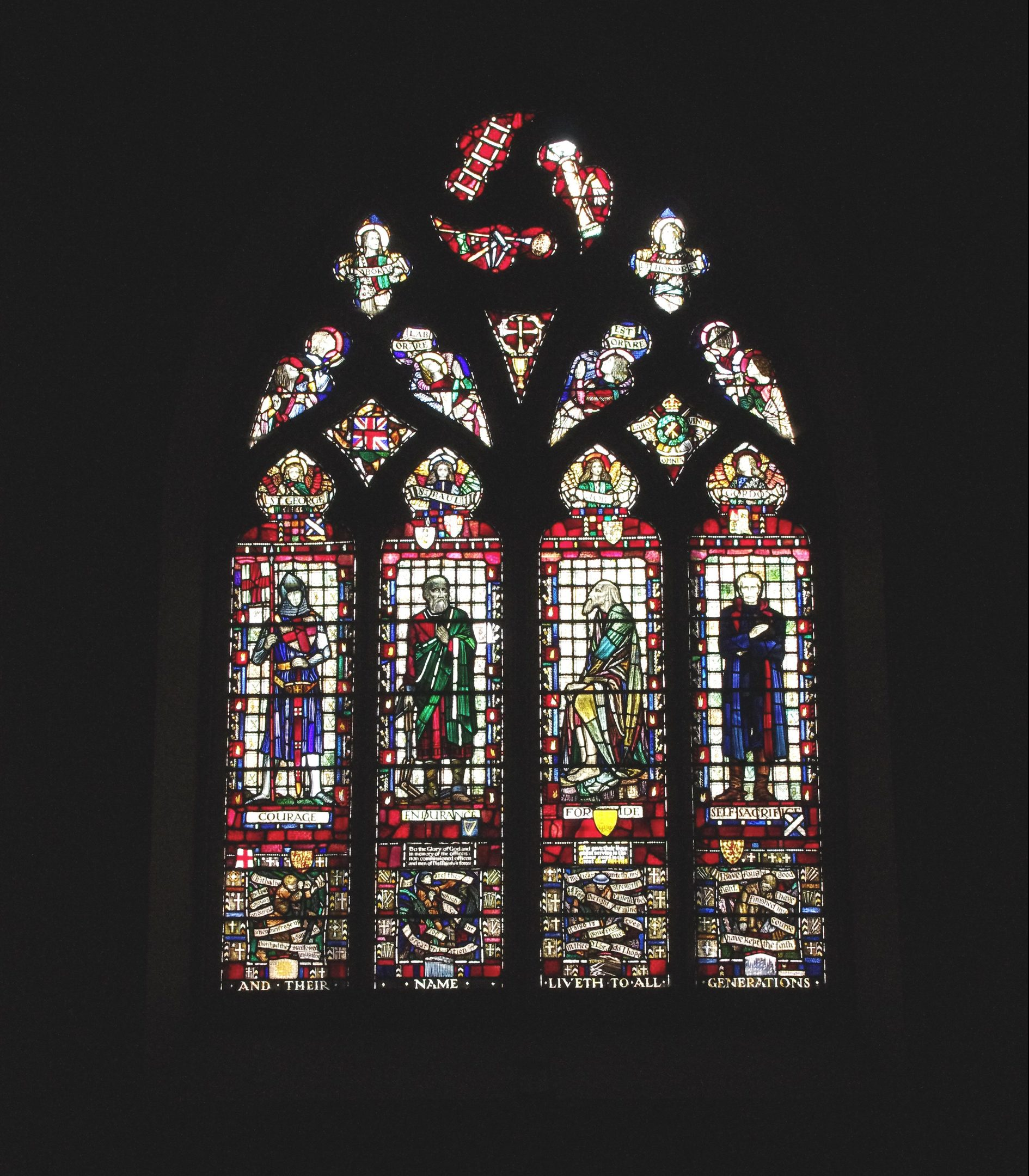 The spectacular stained glass window dates back to the 1920s and will be backlit at night.