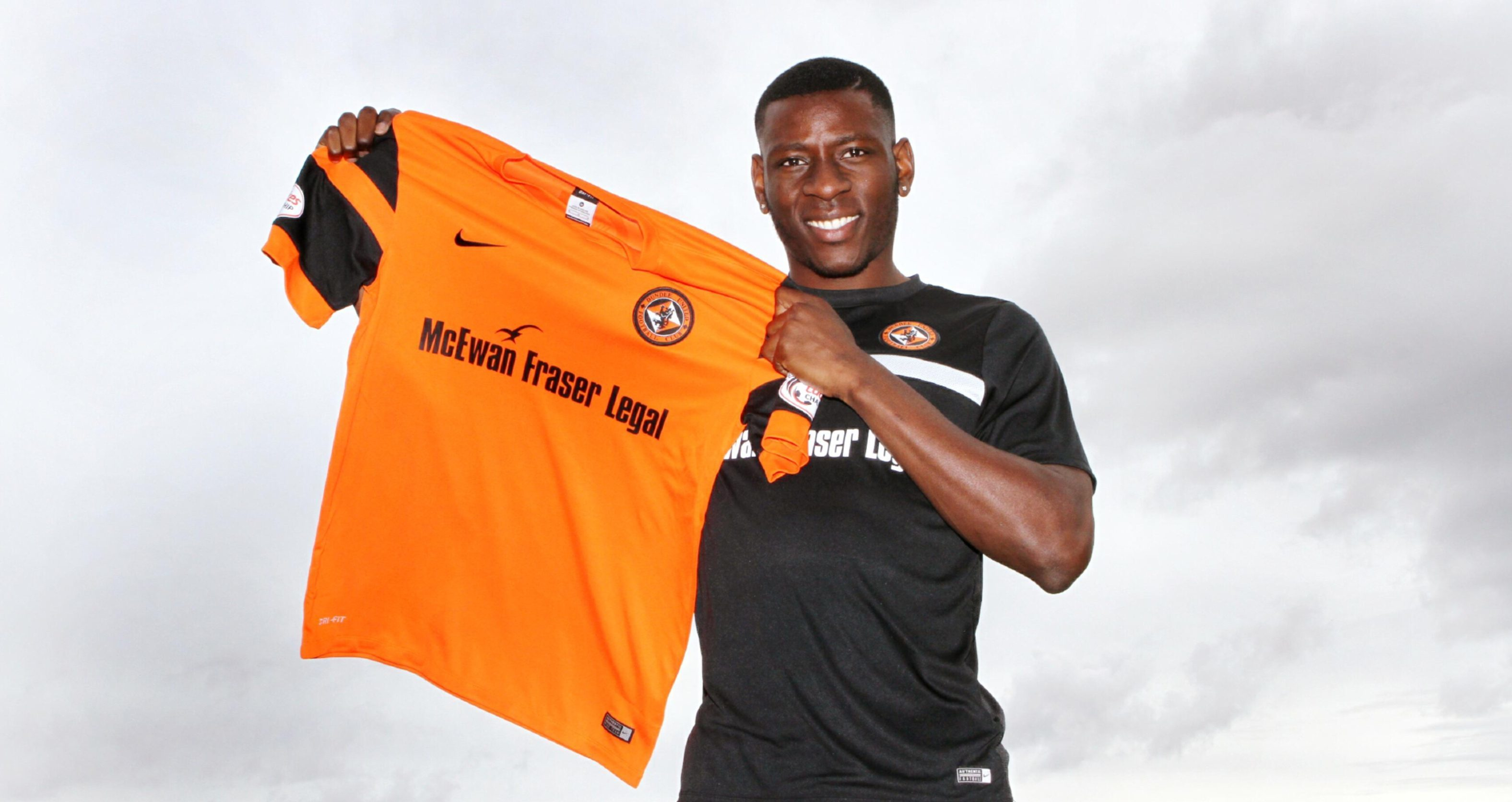 Tope Obadeyi shows off his new colours.