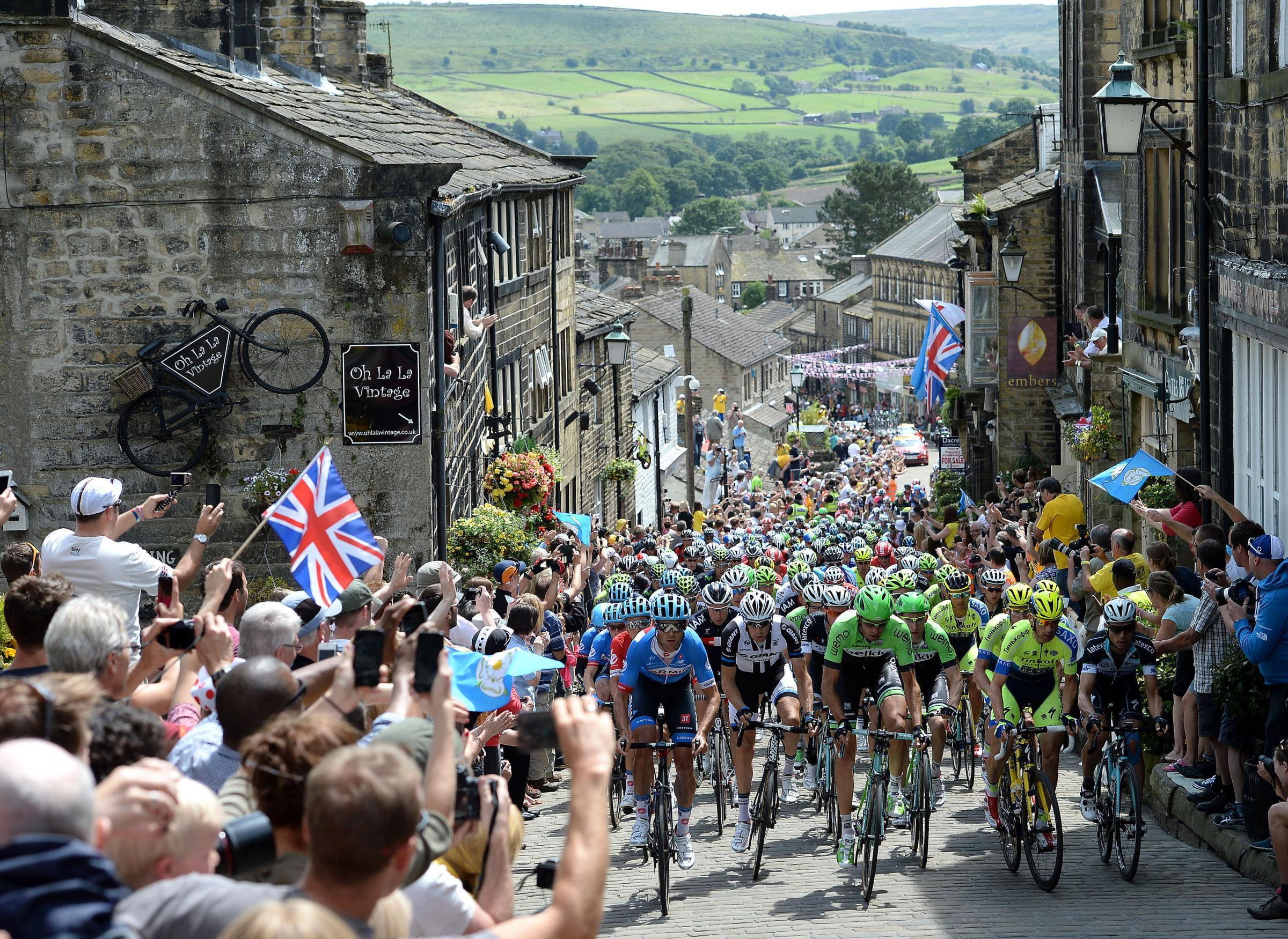The Tour de France visits Yorkshire.