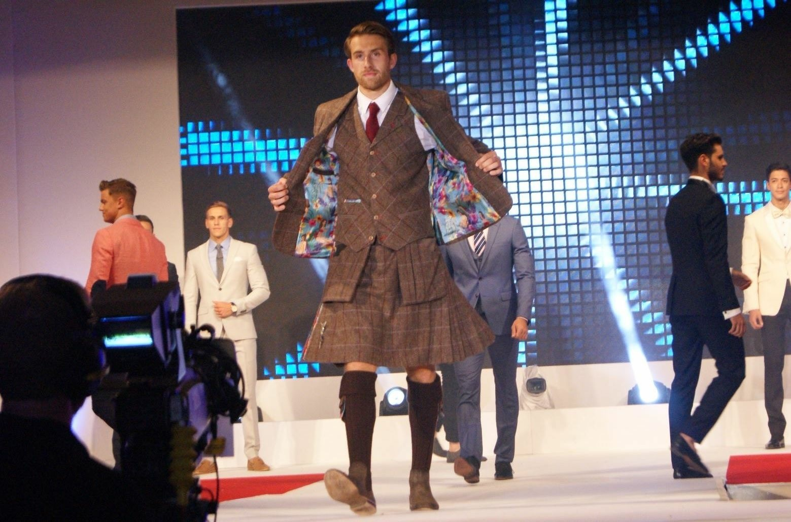 Tristan on the catwalk.