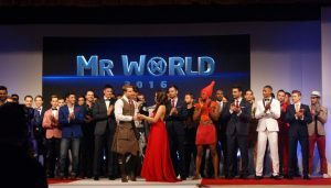 Tristan was among the top 10 Mr World finalists.