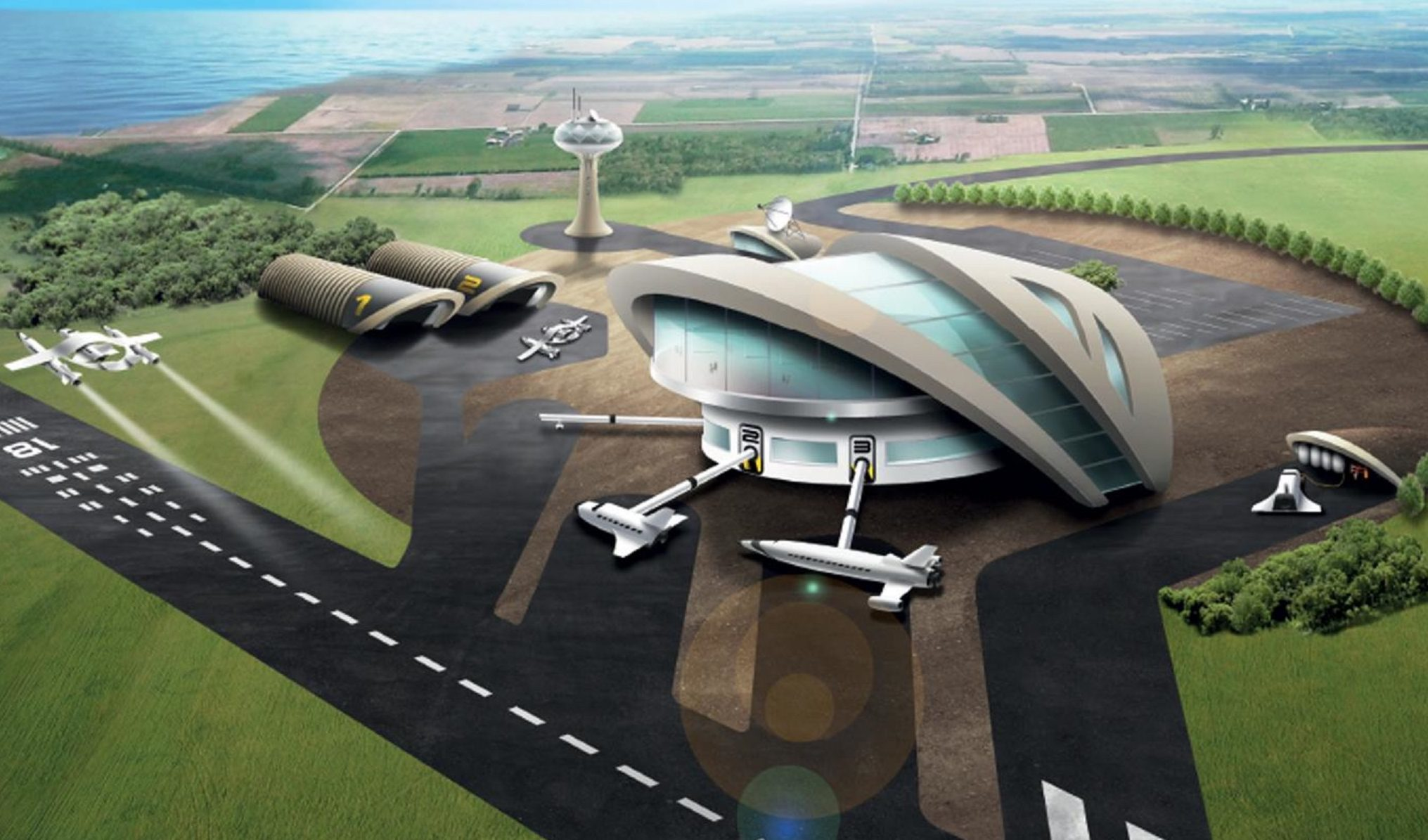 A vision of the Leuchars spaceport