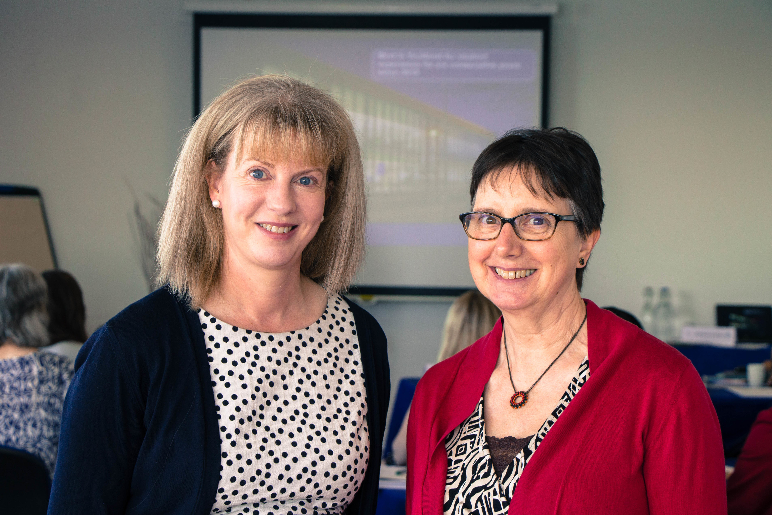 Health secretary Shona Robison and Professor Mary Renfrew.