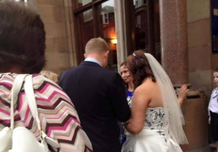 Two weddings were evacuated.