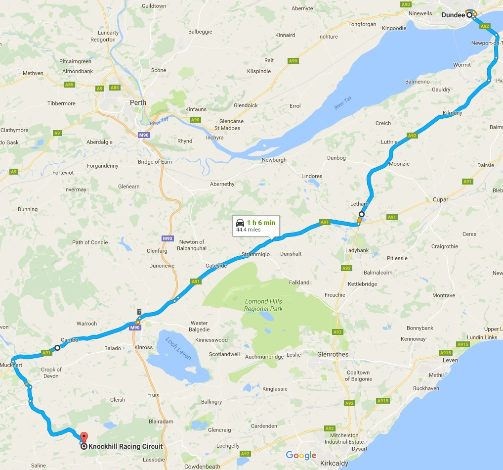 The planned route on August 7.