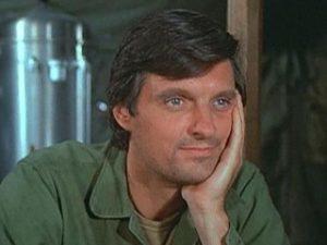 Alan aAda as Hawk-eye Pierce.