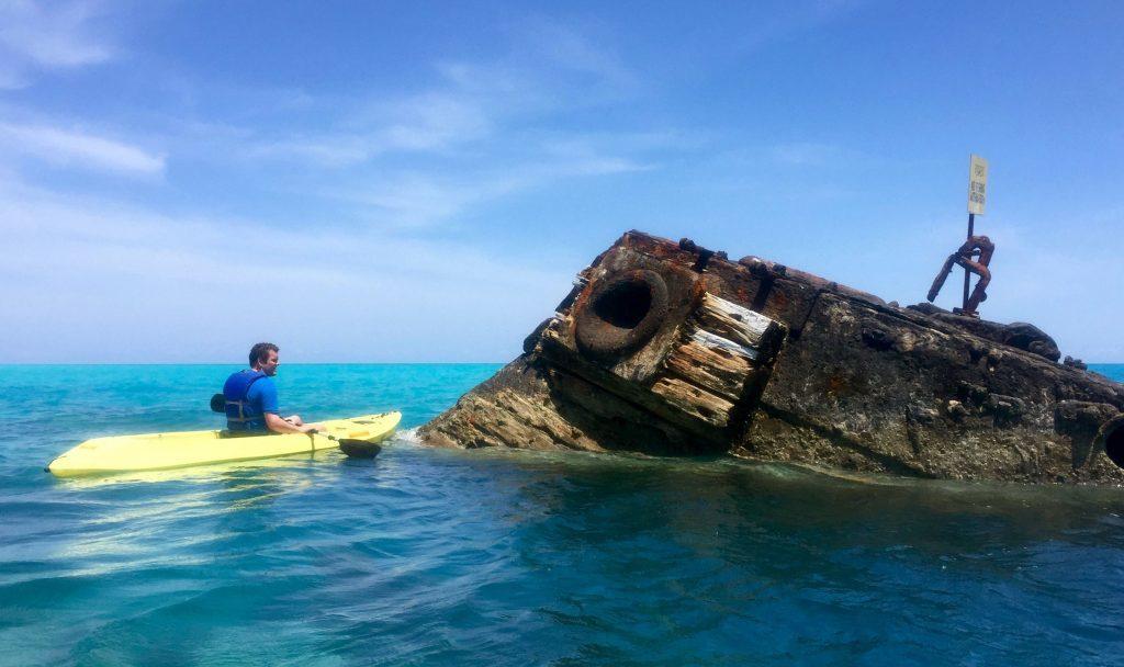 Sea kayaking off Bermuda.