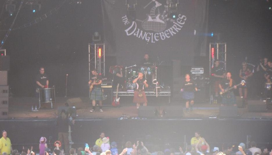 The Dangleberries will play Perth Racecourse on Tuesday