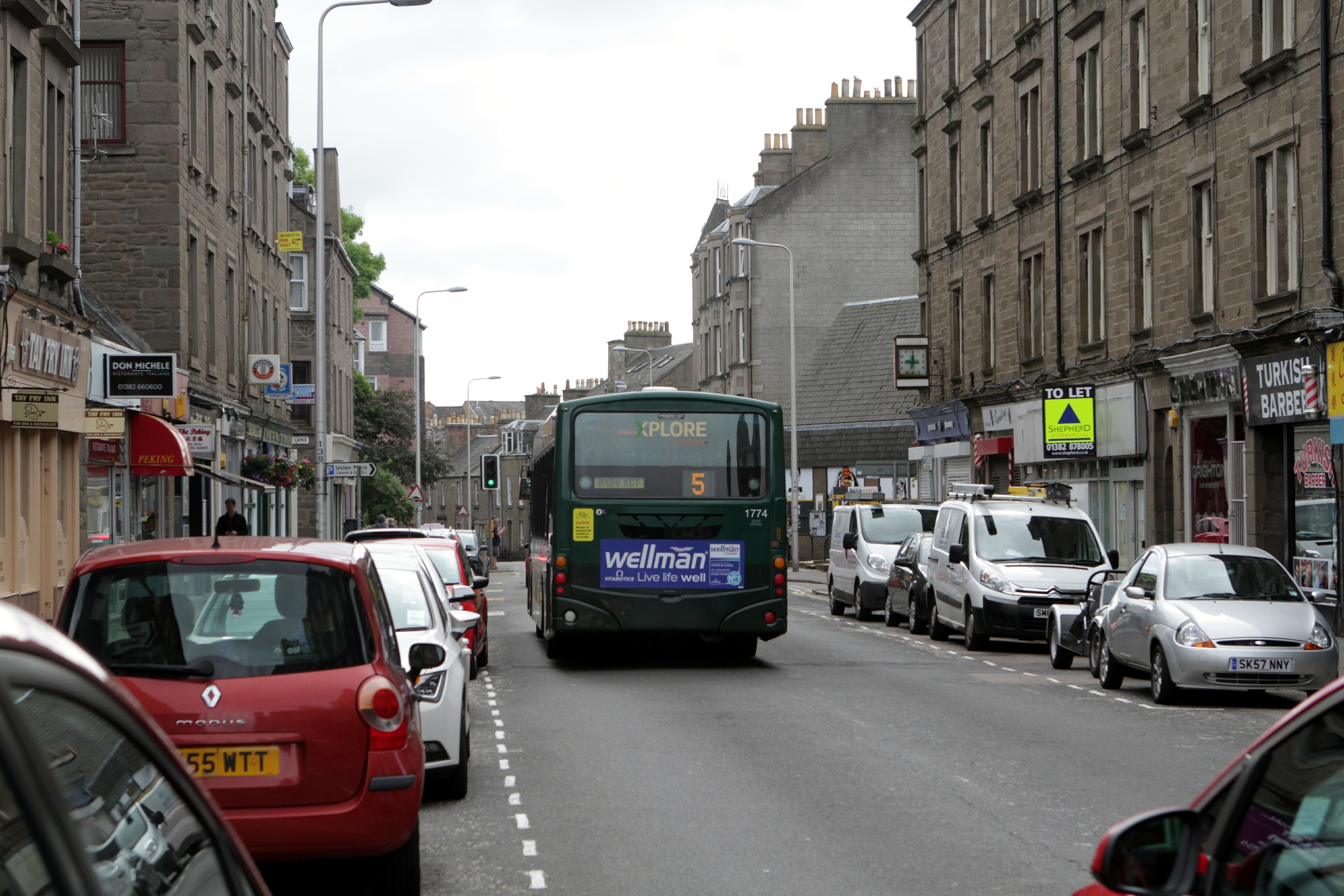 Buses are being diverted from Perth Road.