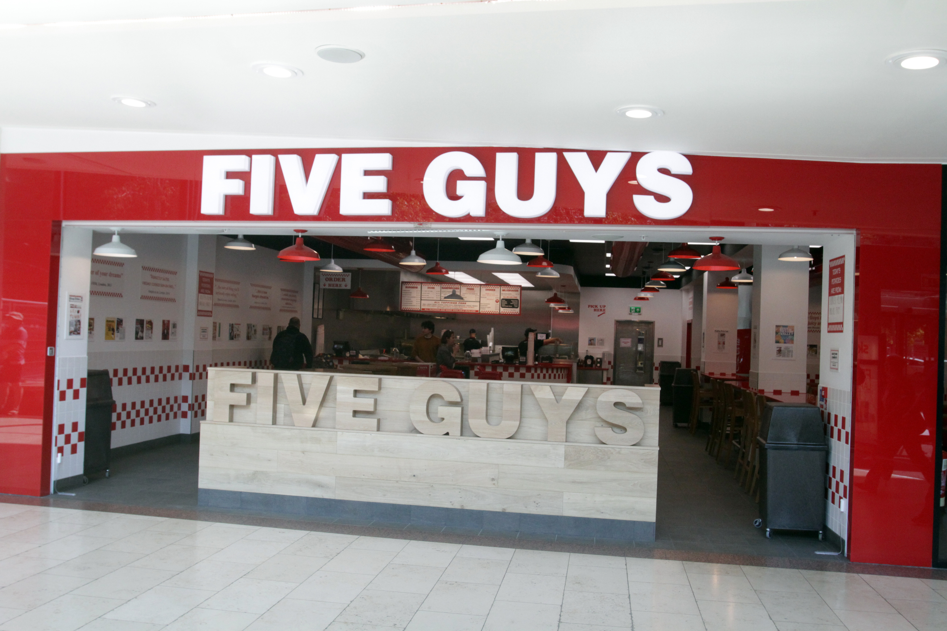 Five Guys in the Overgate Shopping Centre.