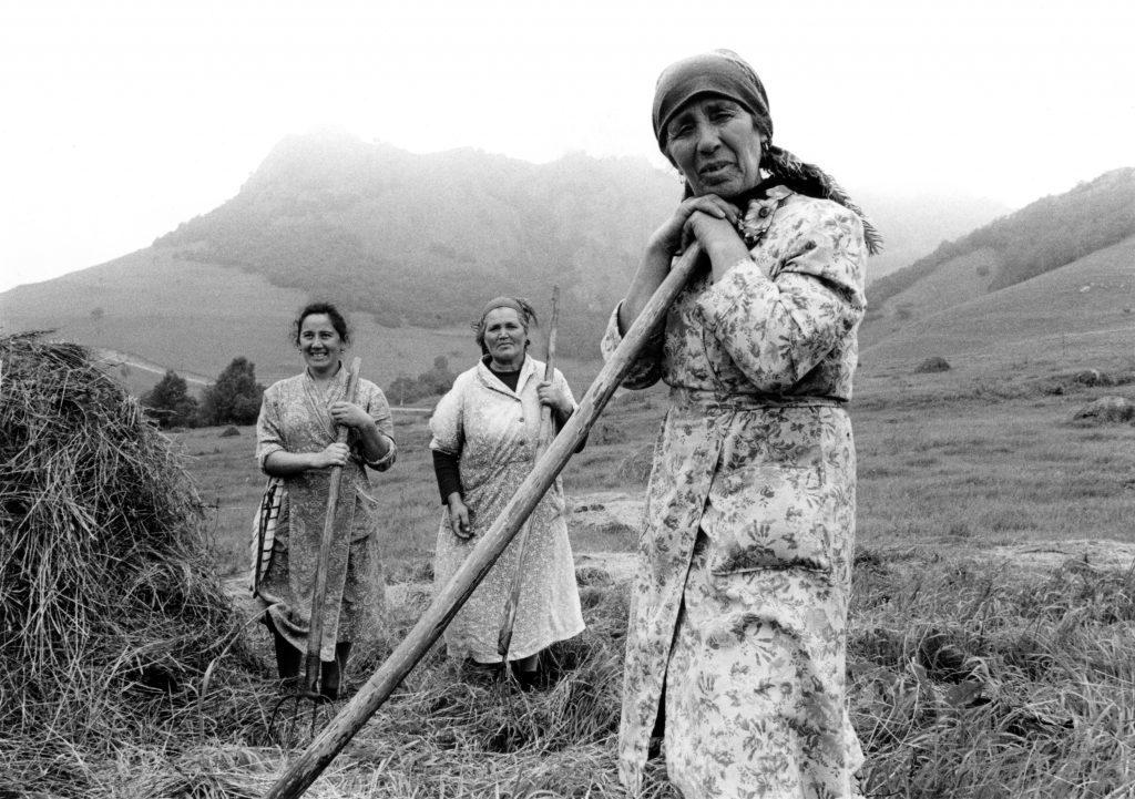 Haymaking, Soviet Republic of Georgia, summer of 1989.