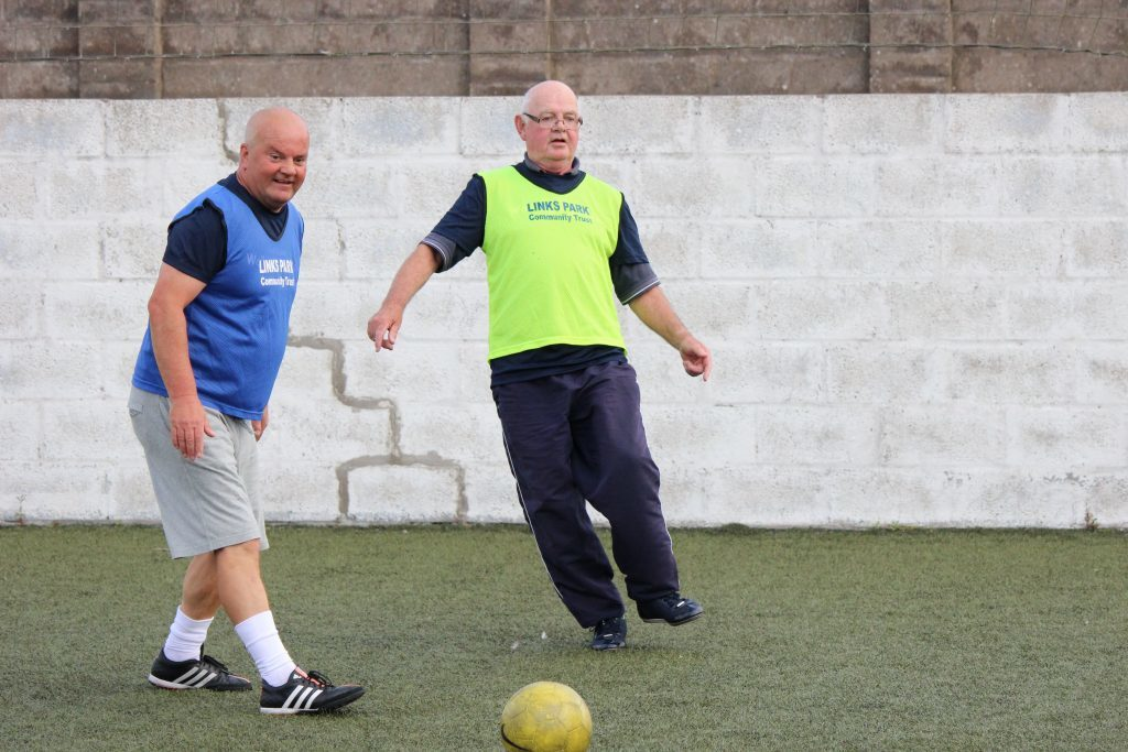 Links Park Community Trust Walking Football session