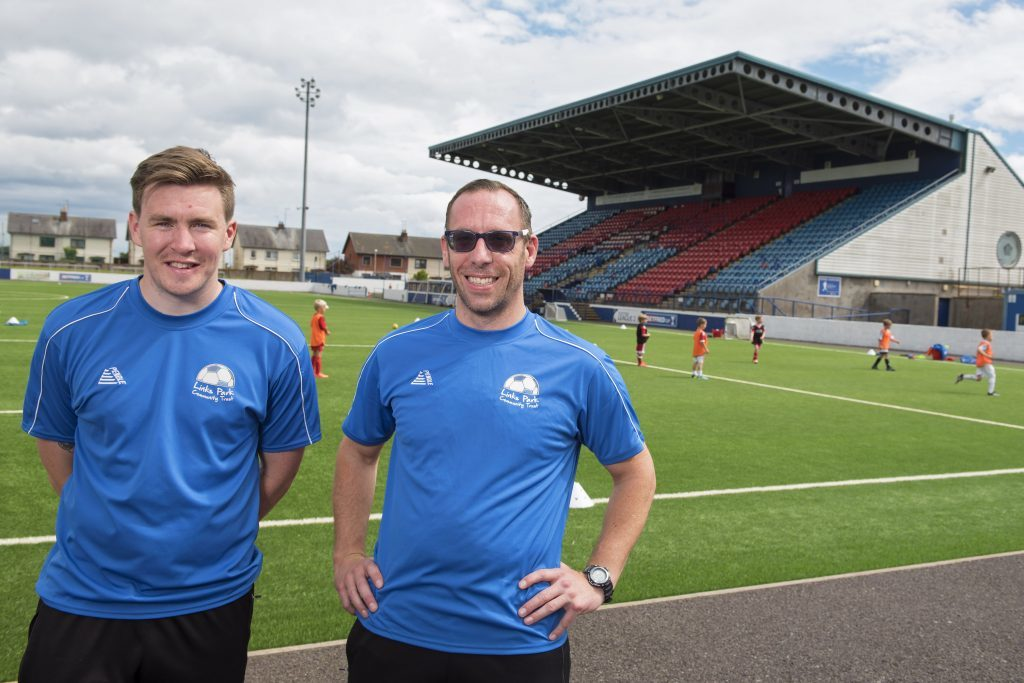 Links Park Community Trust project officers Logan Cruickshank and Andrew Westcott.