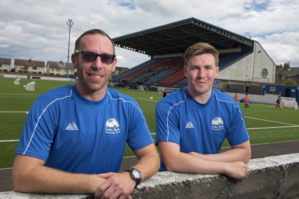 Links Park Community Trust project officers Andrew Westcott and Logan Cruickshank.
