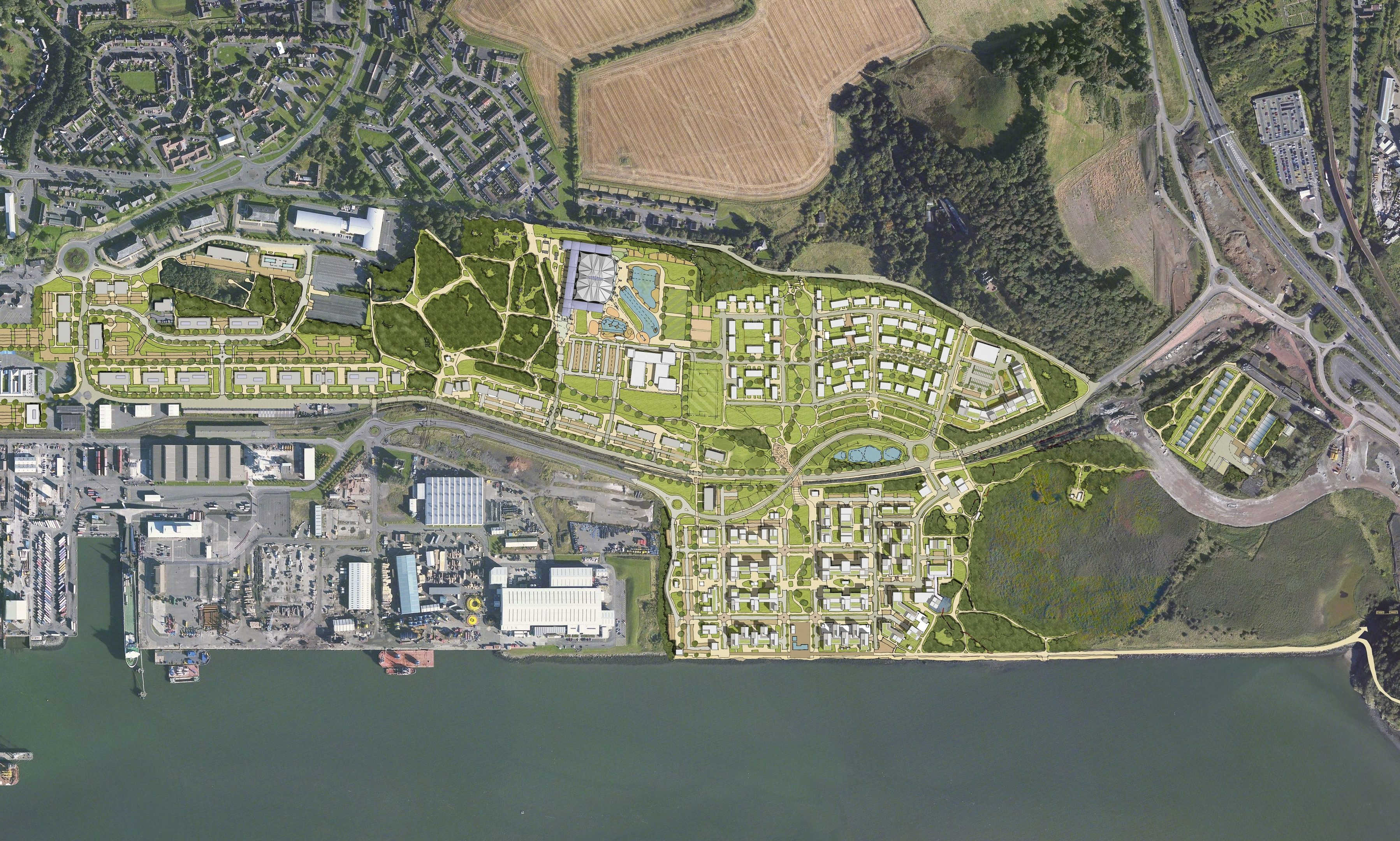 How the Rosyth waterfront could look if the £500m plans go ahead