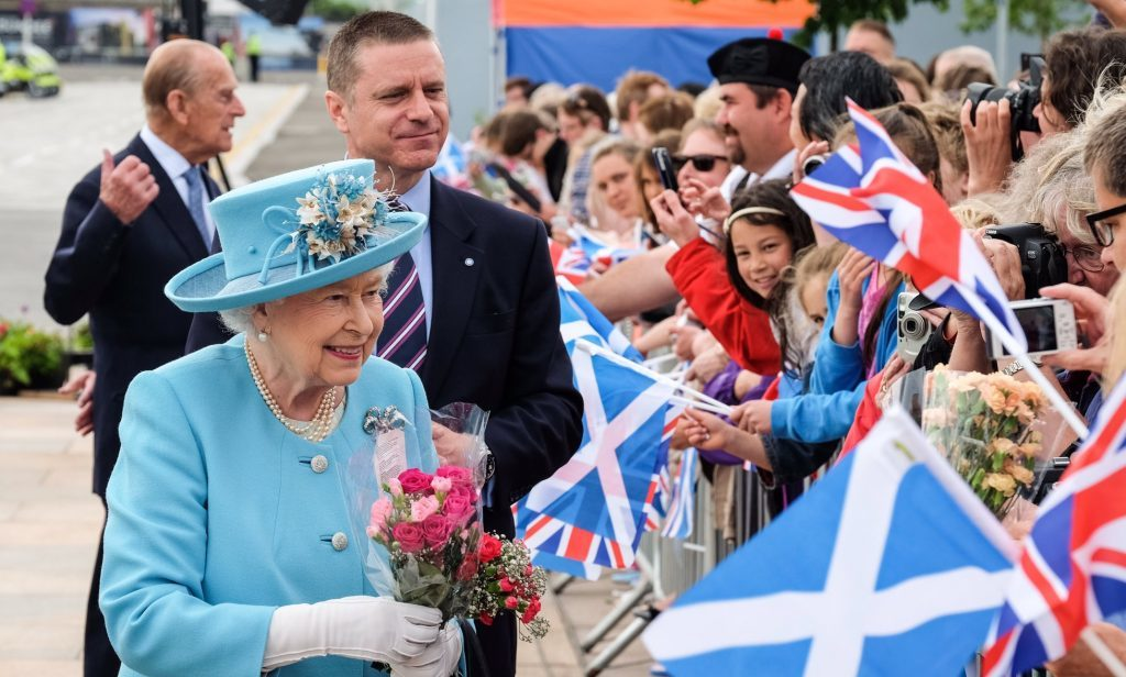 The Queen meets crowds at Slessor Square in Dundee.