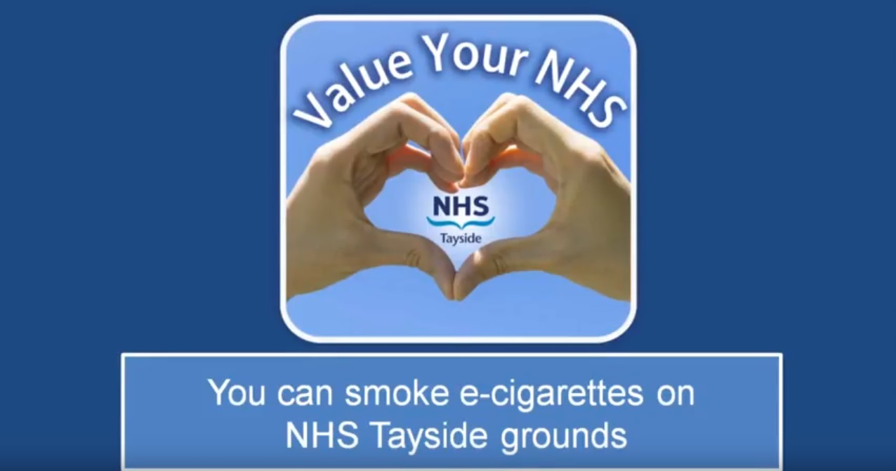 NHS Tayside has relaxed the rules on vaping.