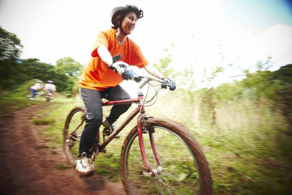 Mountain biking at PGL in Liddington, Wiltshire.