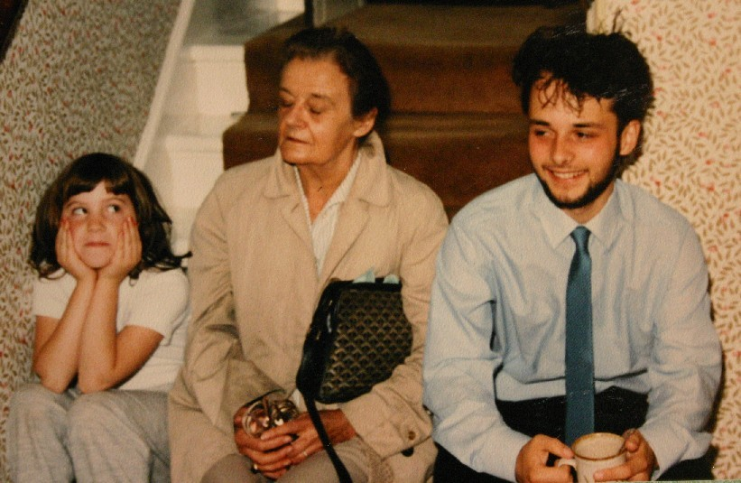 A young Patrick Garrett pictured right in 1985) with his great aunt Clare Hollingworth