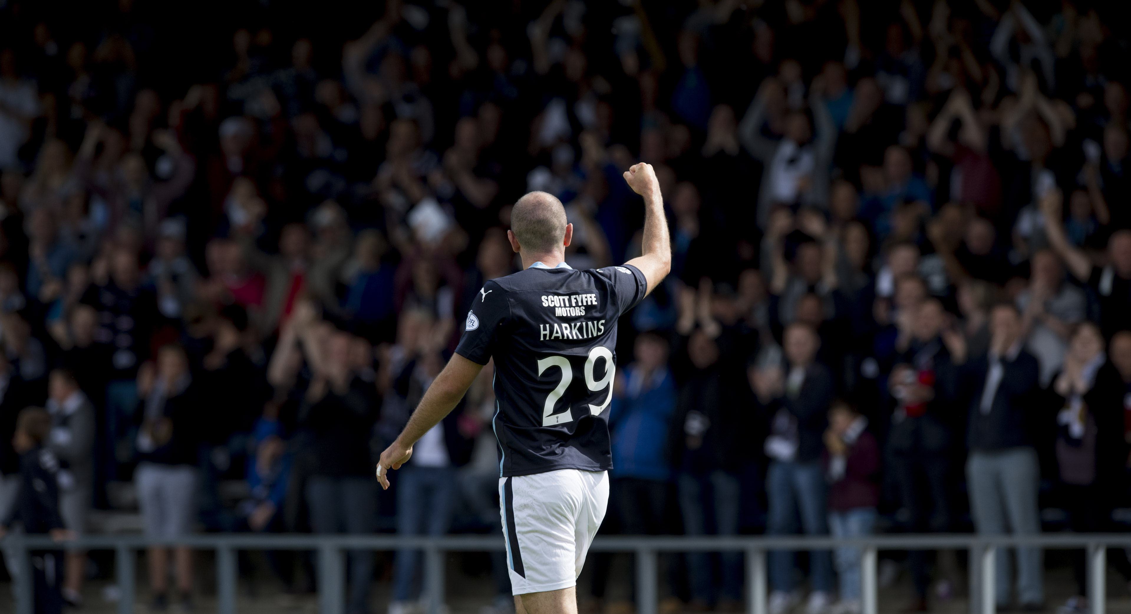 Gary Harkins struck up a great relationship with the Dundee fans.