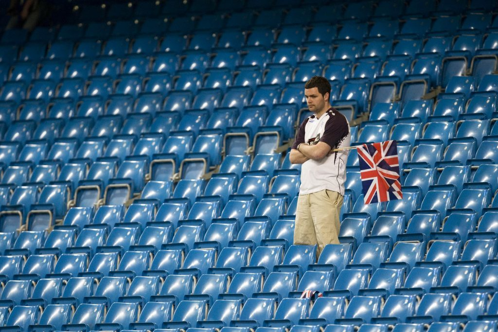 A dejected fan after Rangers' defeat in the 2008 UEFA CUP final against Zenit St Petersburg. It was the last time a Scottish side reached a major European final and Jim wonders if we'll ever see it again.