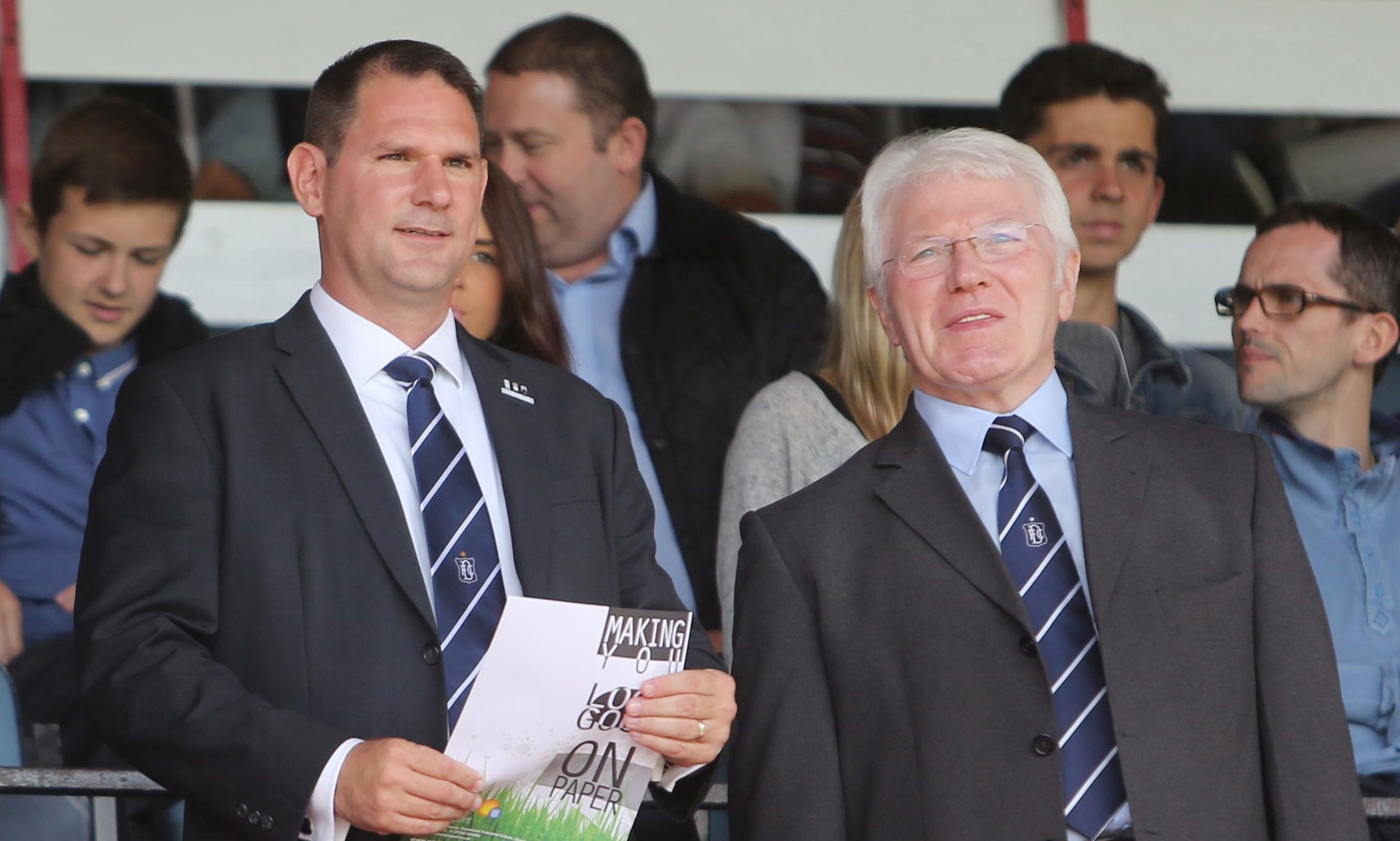Mr Forbes with current Dundee managing director John Nelms.