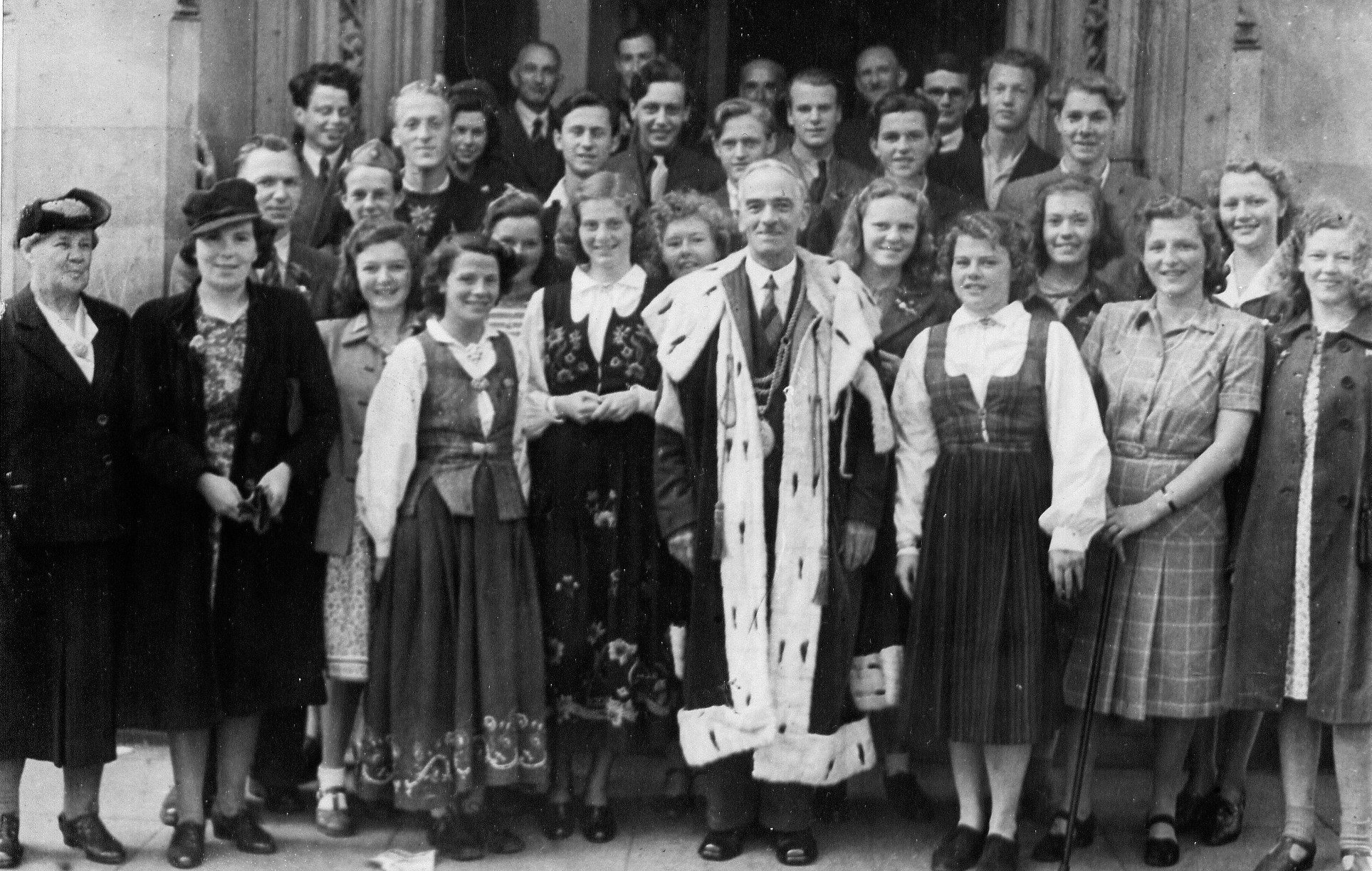 The first visit by the Norwegian group back in 1946.