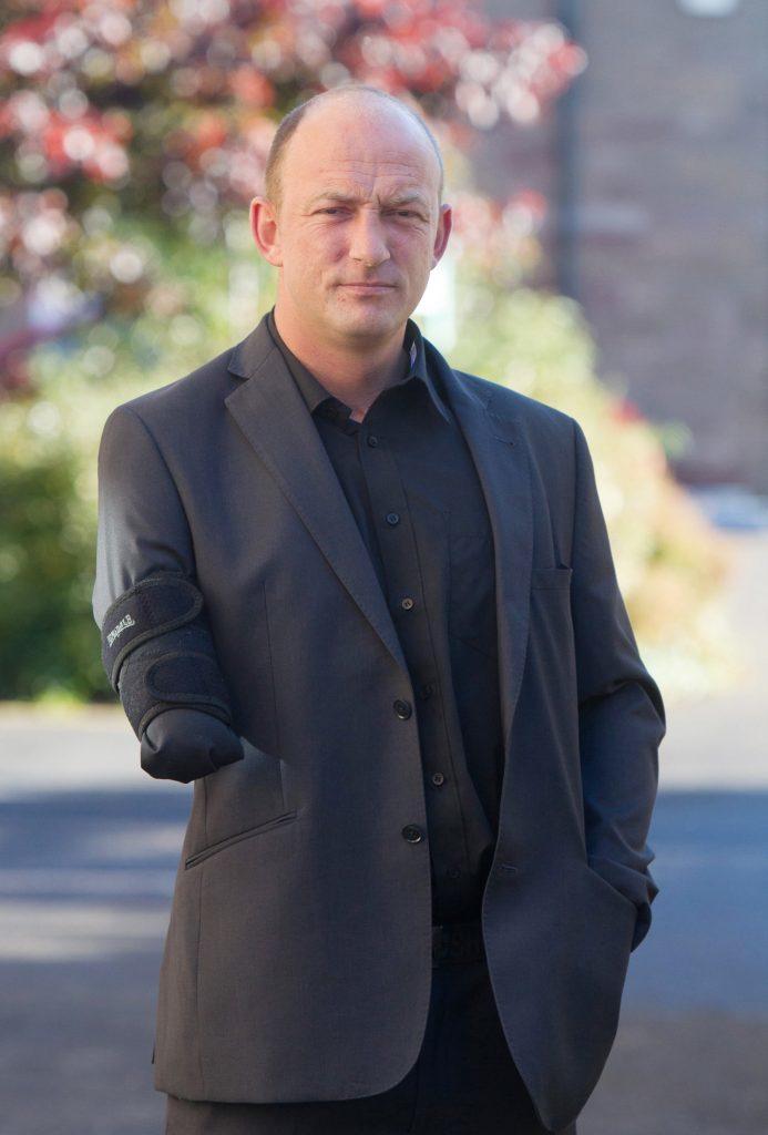 Neil Black was the victim of a crash under a railway bridge at Inverkeilor.